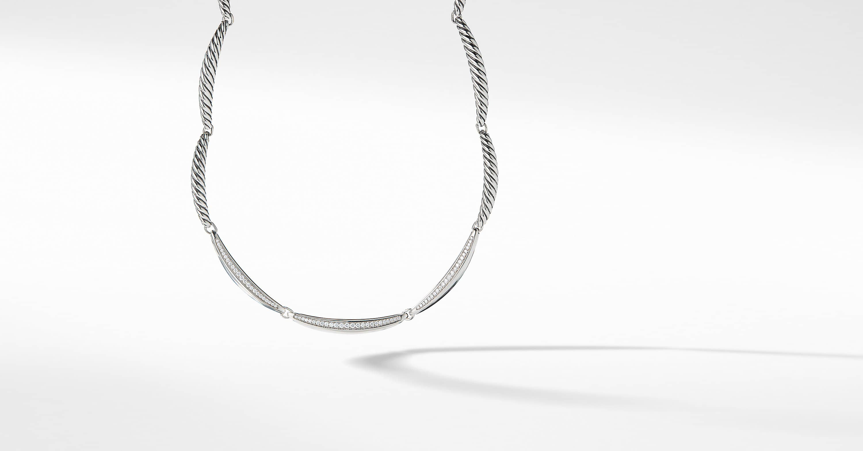 Tides Single Row Necklace with Diamonds