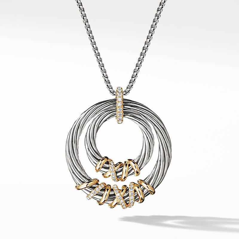Helena Pendant Necklace with 18K Gold with Diamonds