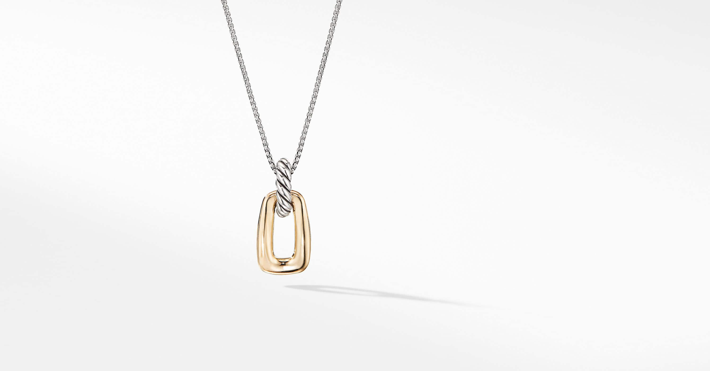 Wellesley Link™ Pendant Necklace with 18K Gold