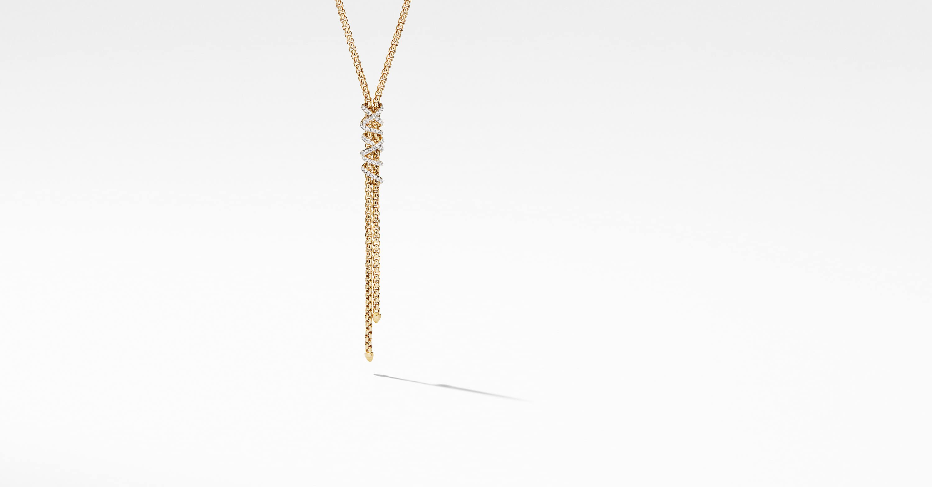 Helena Y Necklace in 18K Yellow Gold with Diamonds