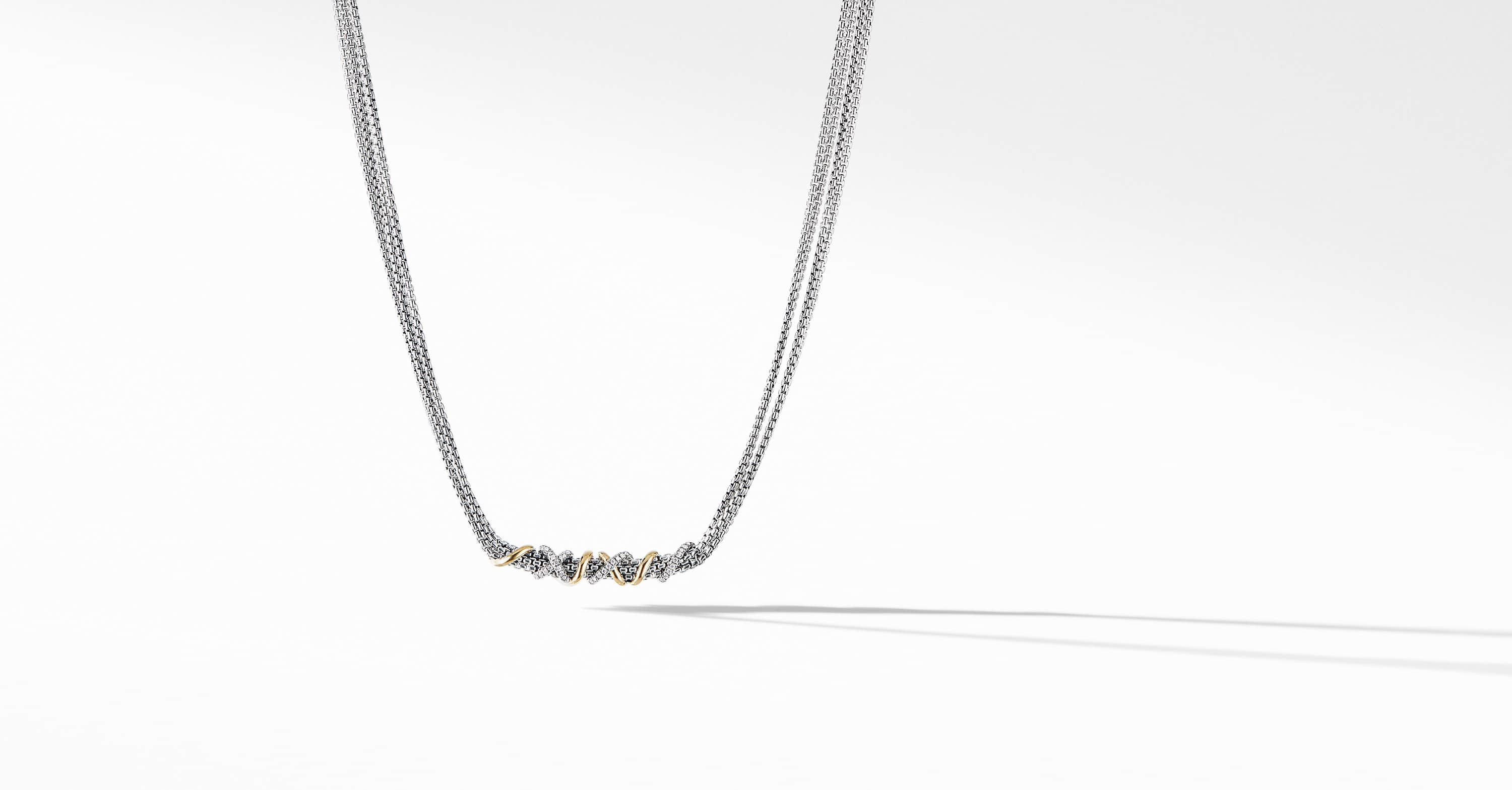 Helena Short Necklace with 18K Yellow Gold and Diamonds