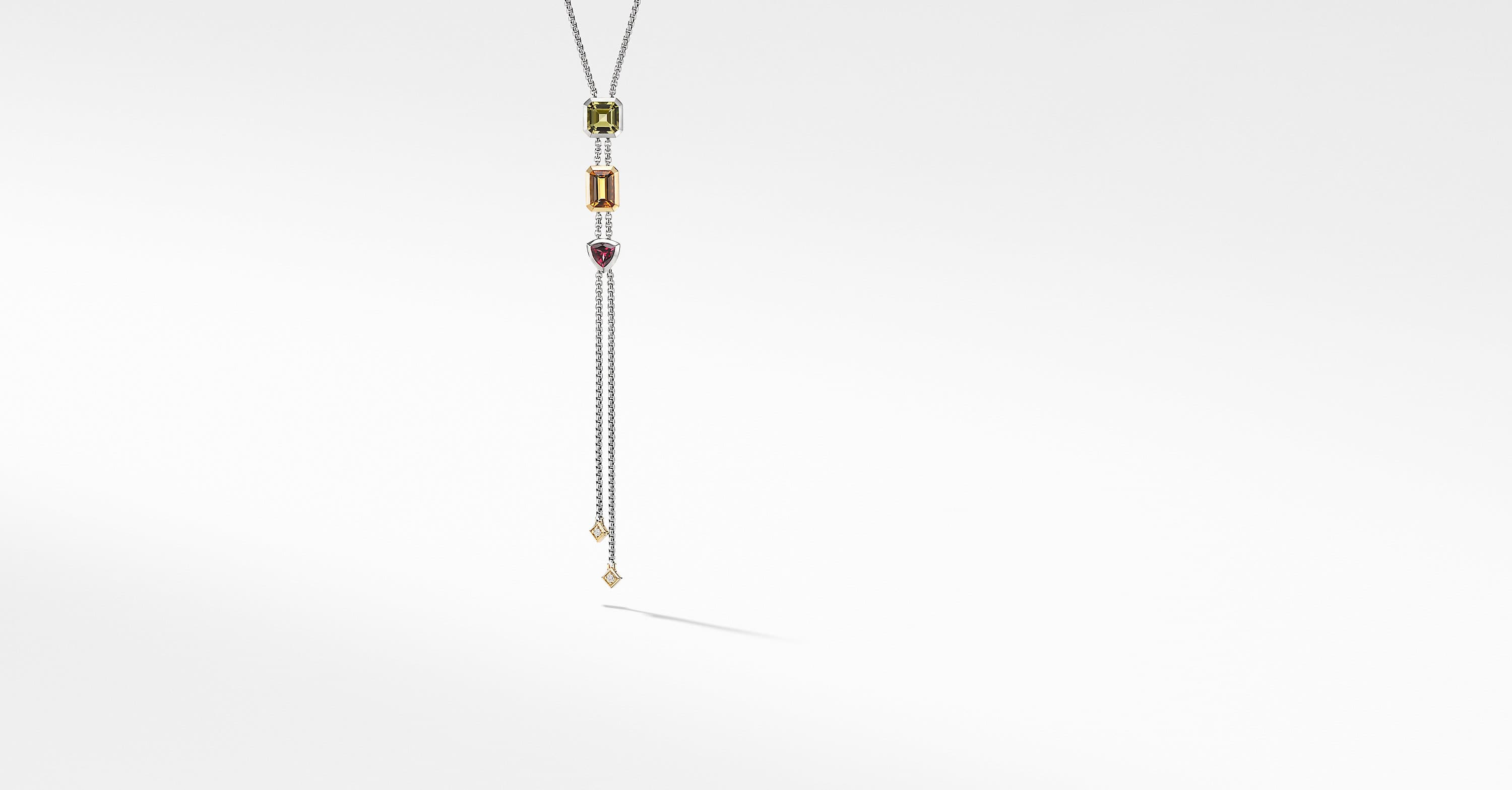 Novella Y Necklace with 18K Yellow Gold