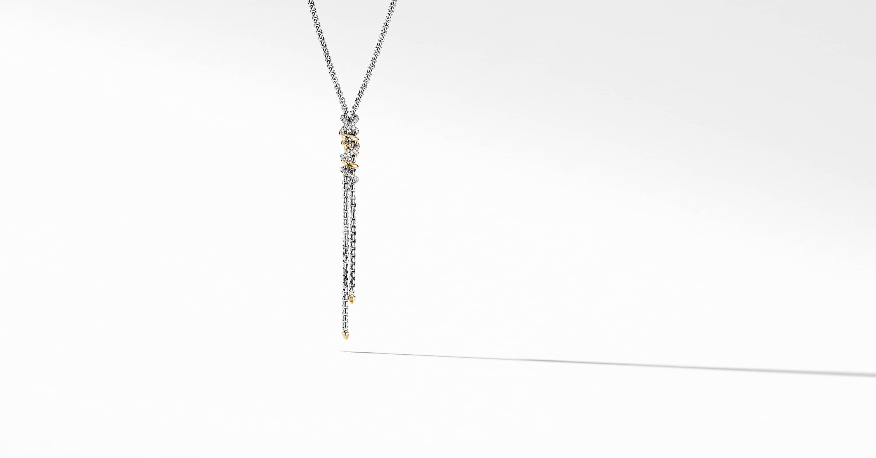 fb86c593a66557 Helena Y Necklace with 18K Yellow Gold with Diamonds | David ...