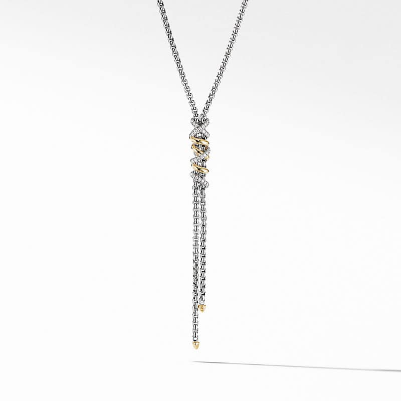 Helena Y Necklace with 18K Yellow Gold with