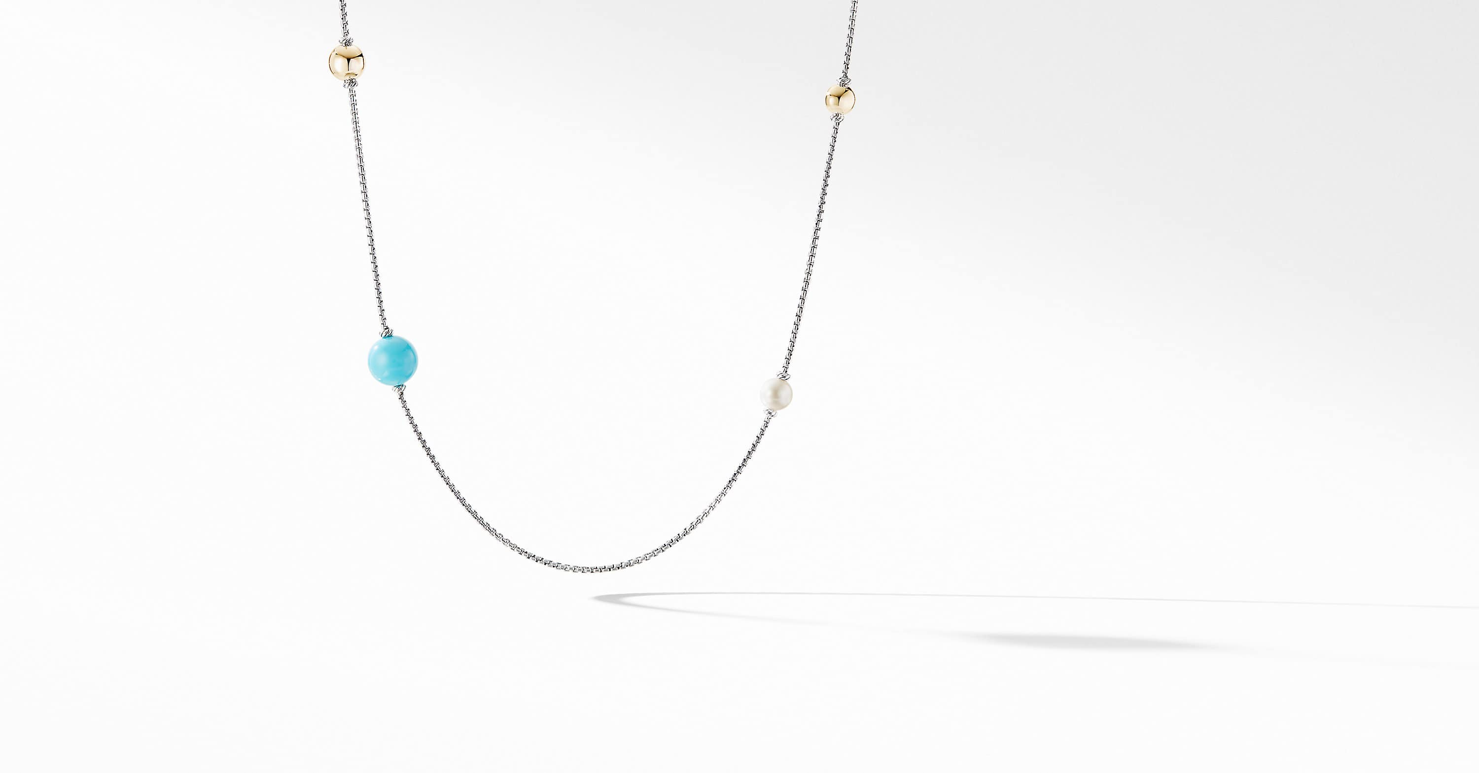 Solari XL Station Chain Necklace with 14K Yellow Gold