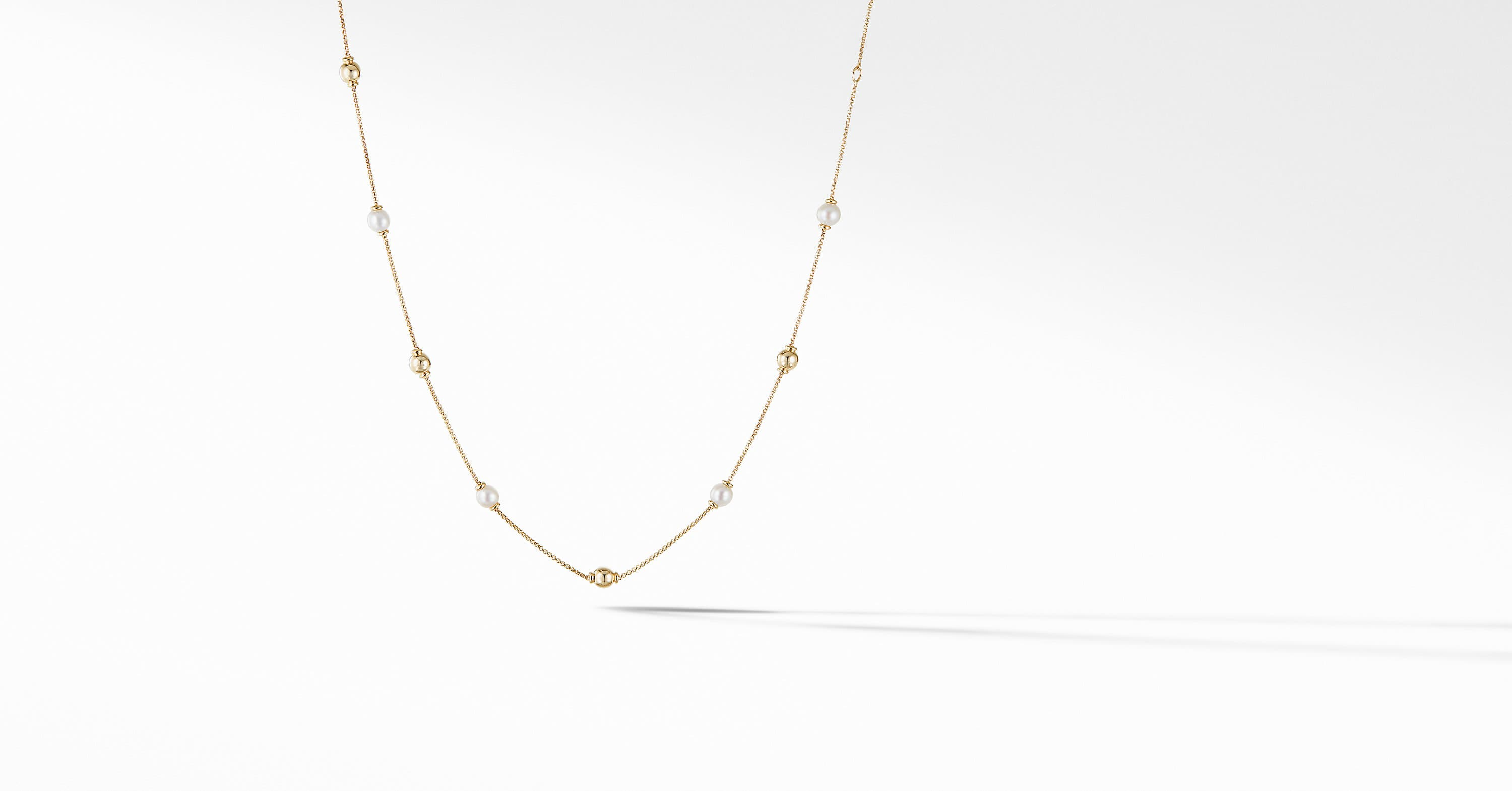 Solari Short Station Necklace in 18K Yellow Gold