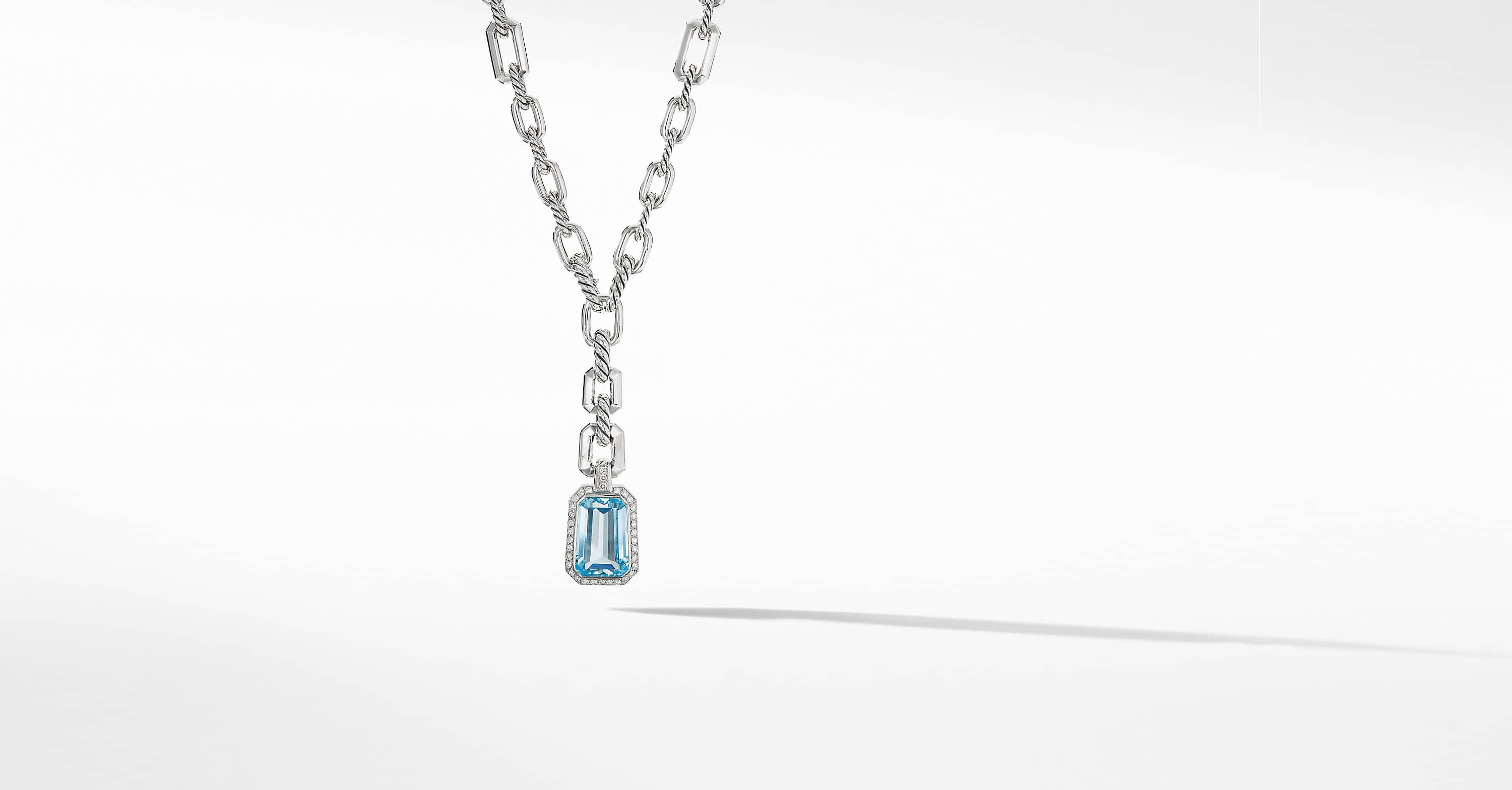 Stax Drop Pendant Necklace with Diamonds
