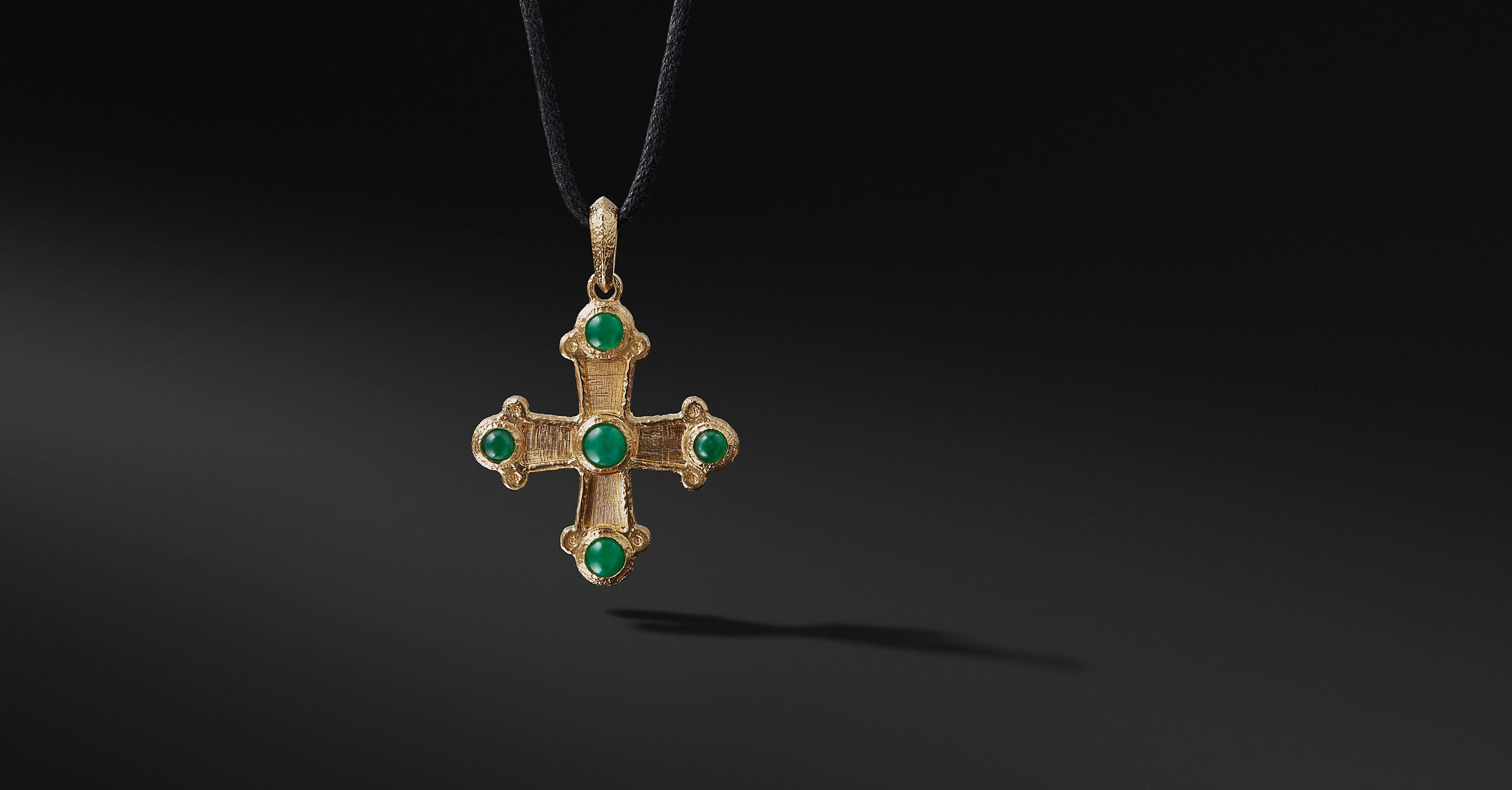 Shipwreck Cross Necklace in 22K Gold