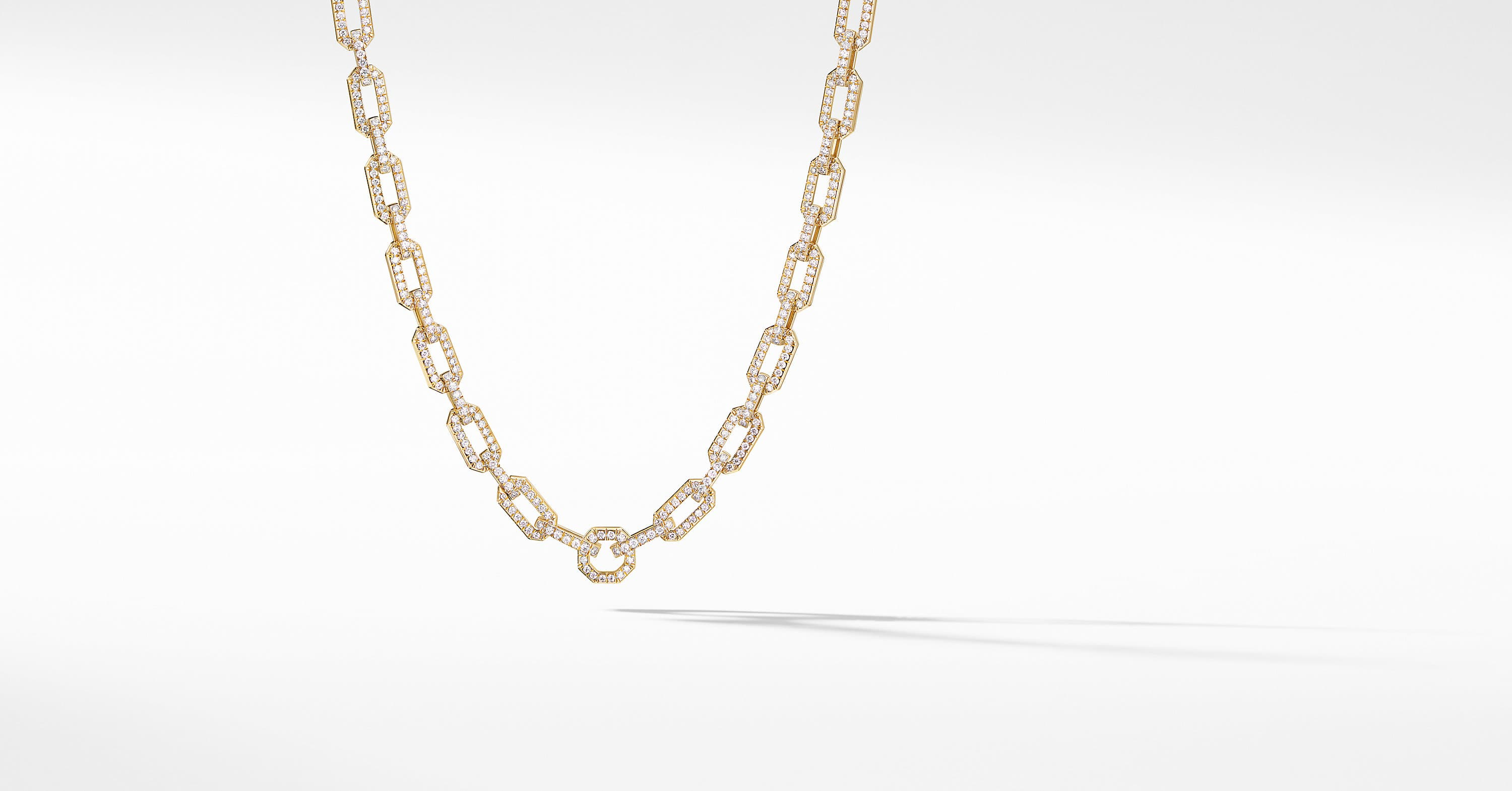 Starburst Chain Necklace in 18K Yellow Gold with Pavé