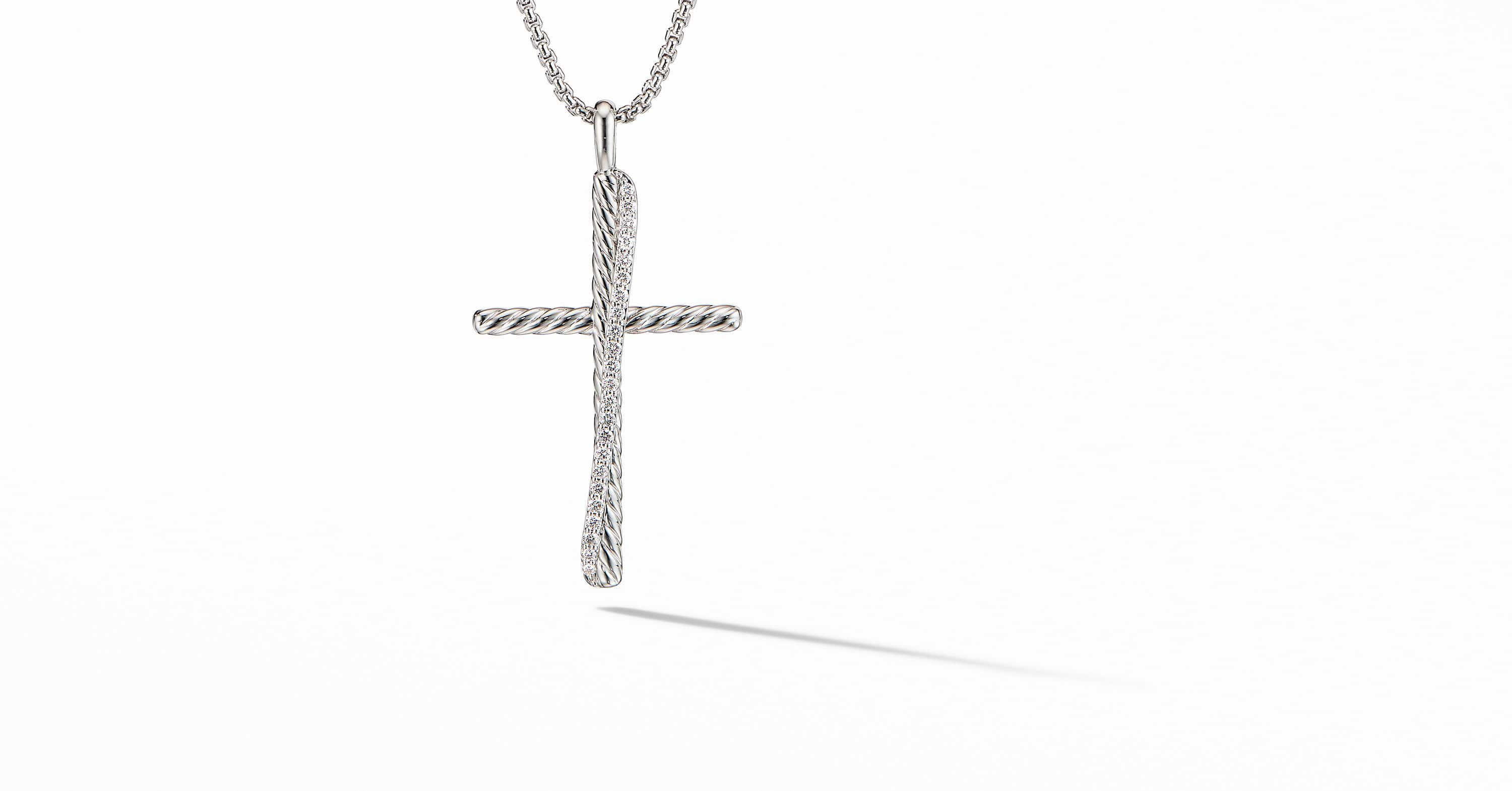 The Crossover Collection XL Cross Necklace with Diamonds