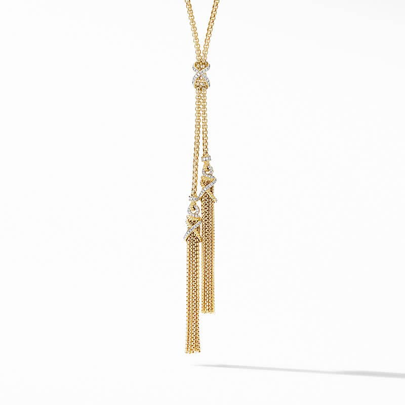 Helena Tassel Necklace in 18K Yellow Gold with Diamonds