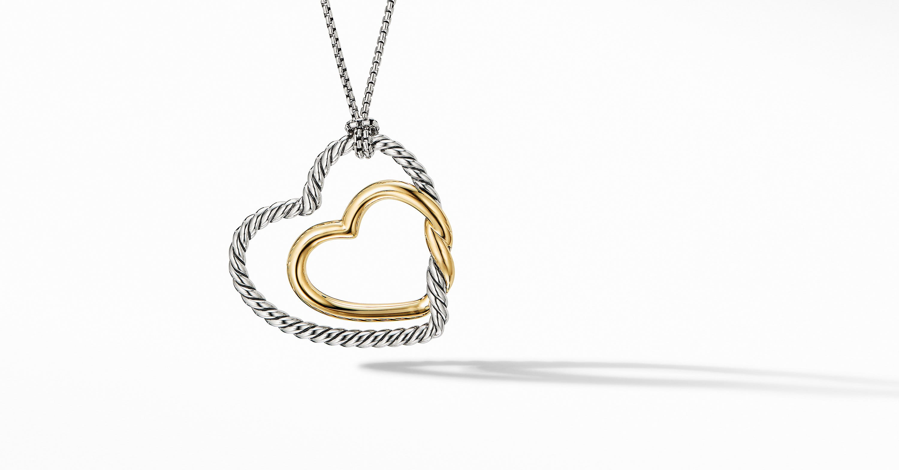Continuance Heart Necklace with 18K Yellow Gold