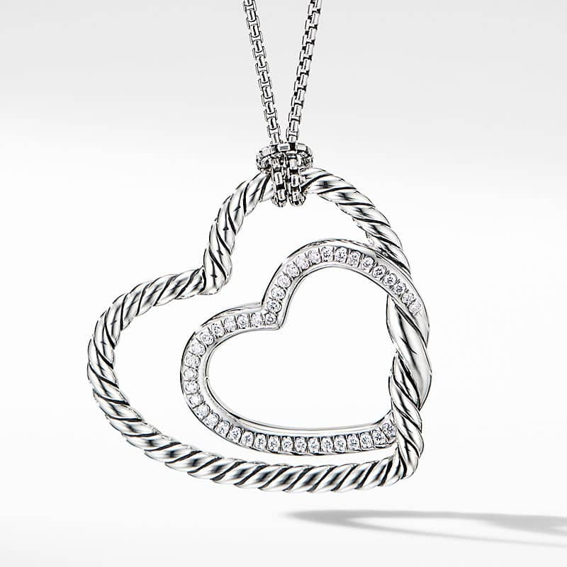 Continuance Heart Necklace with Pavé