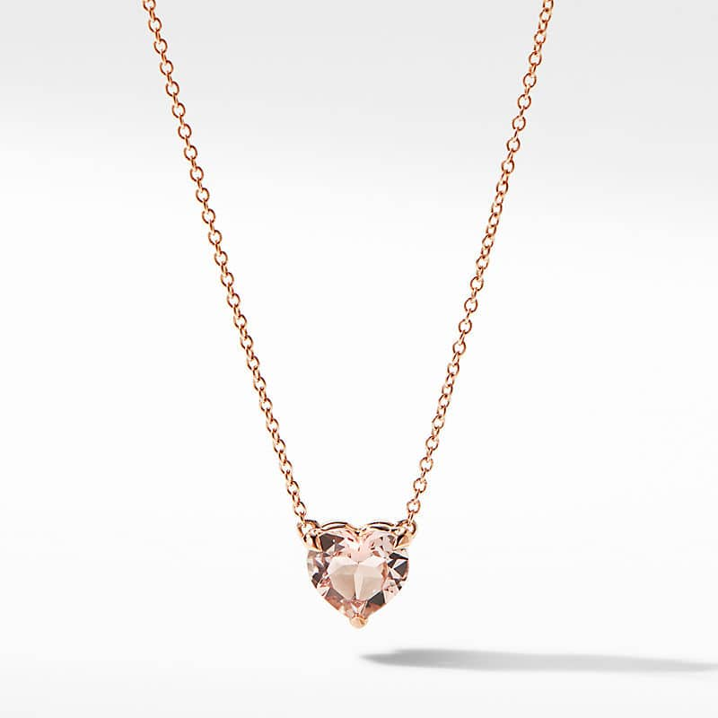 Heart Pendant Necklace in 18K Rose Gold