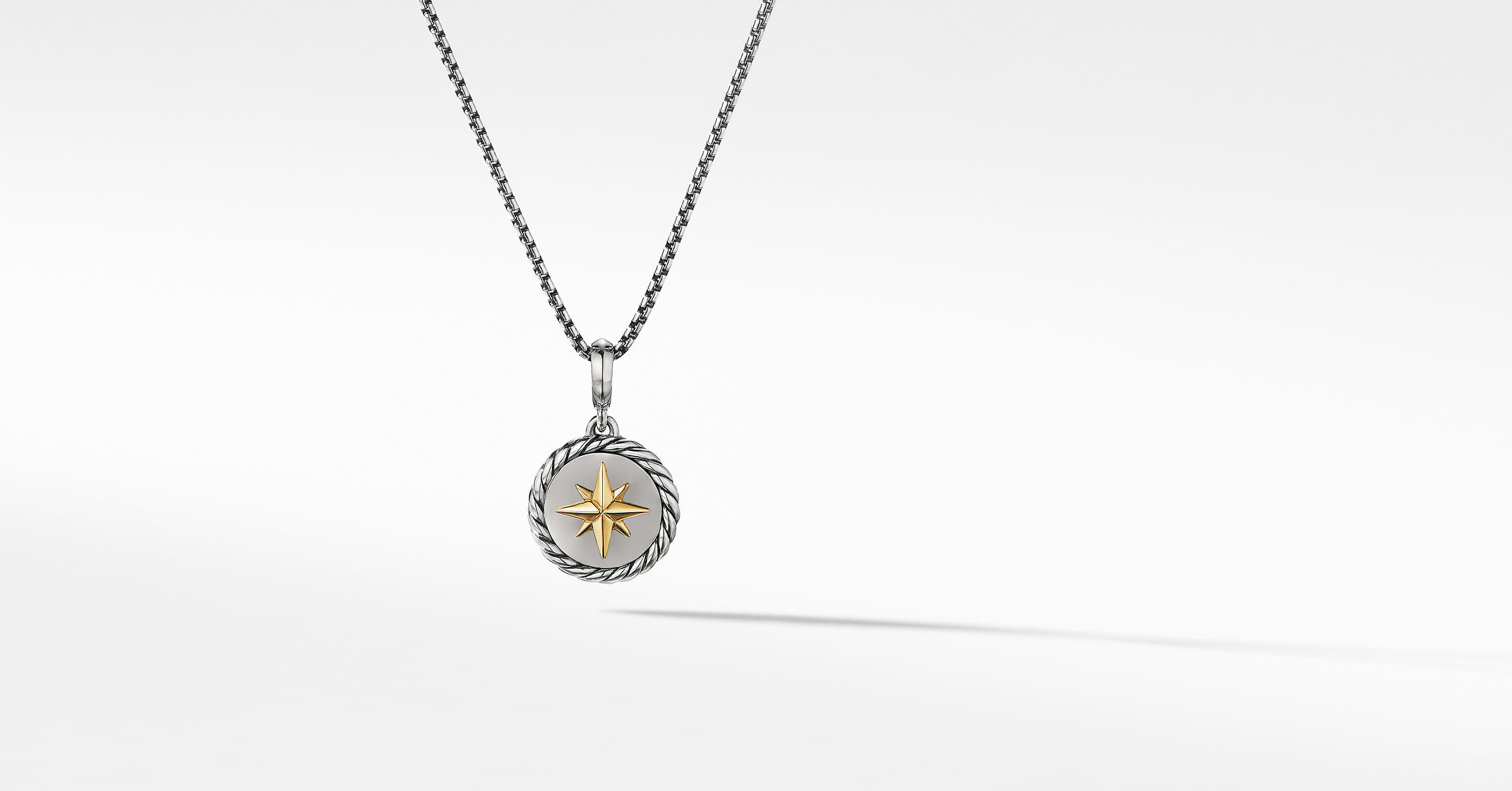 Cable Collectibles North Star Pendant Necklace with 18K Yellow Gold