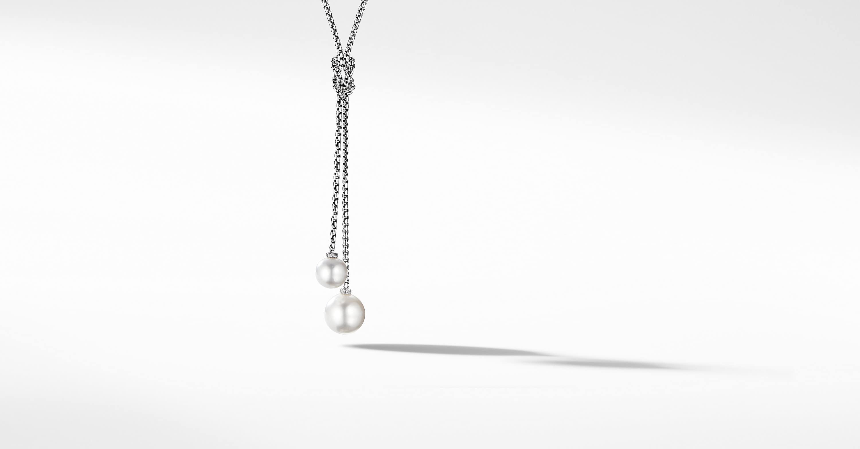 Solari Knot Necklace with Pavé