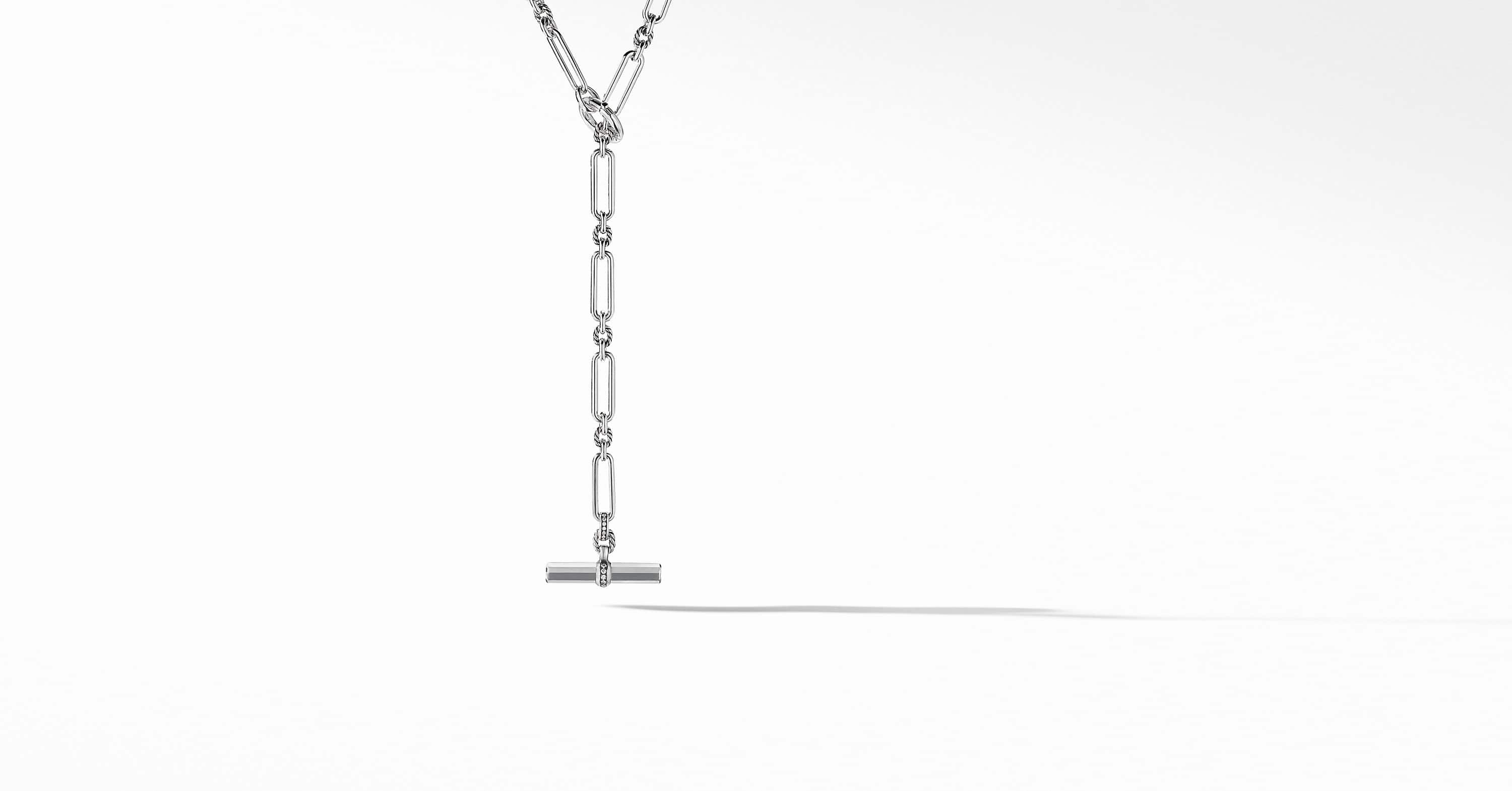 Lexington Toggle Necklace with Diamonds, 6.5mm