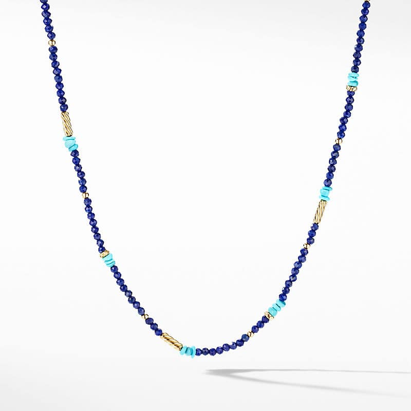 Color Bead Necklace in 18K Yellow Gold