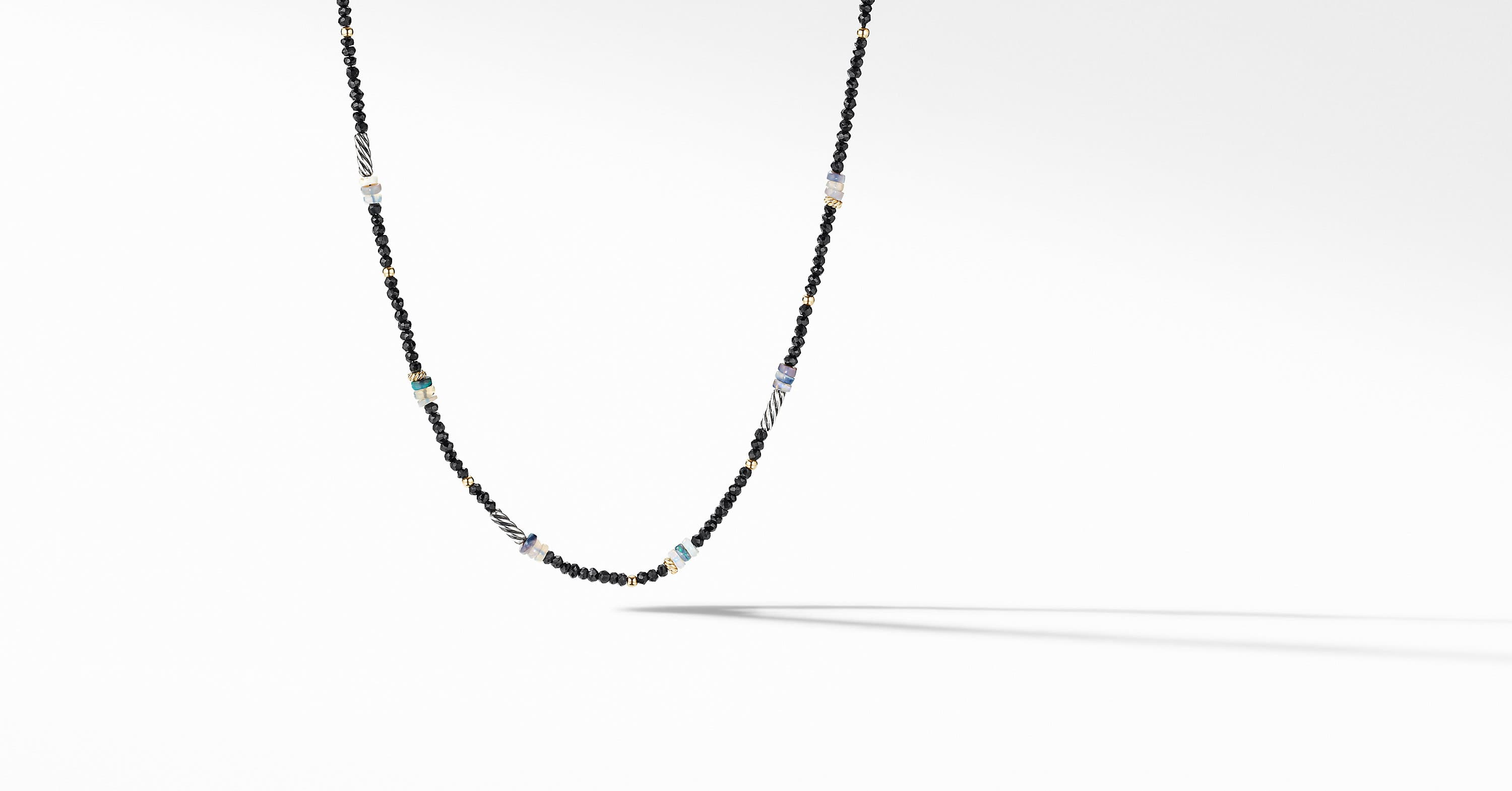 Color Bead Necklace with 18K Yellow Gold