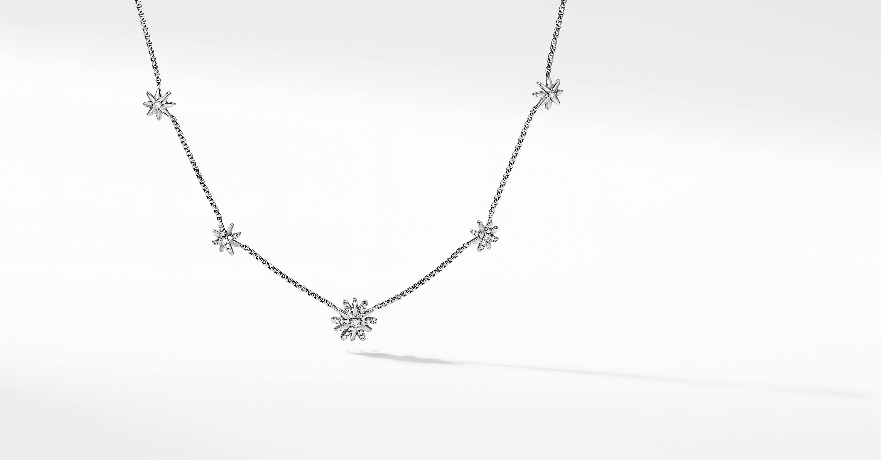 Collier chaine en diamants à motifs Starburst
