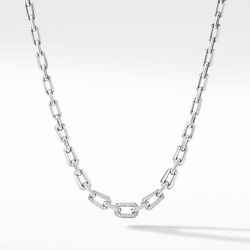 Novella Chain Necklace with Pavé
