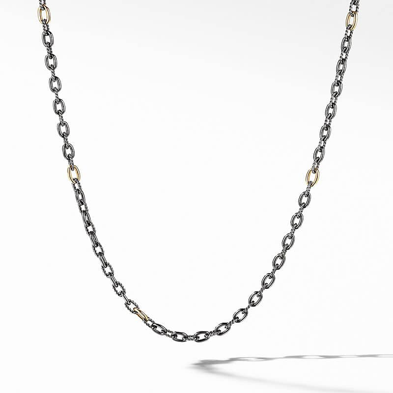 Stax Chain Necklace in Blackened Silver