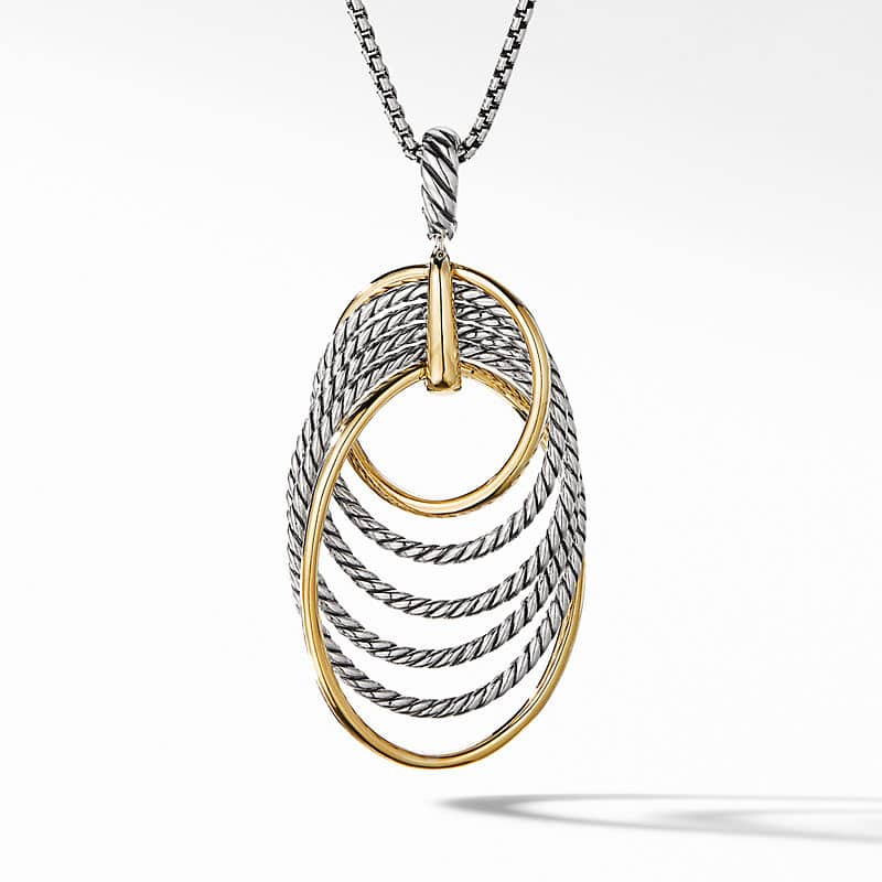 DY Origami Pendant Necklace with 18K Yellow Gold