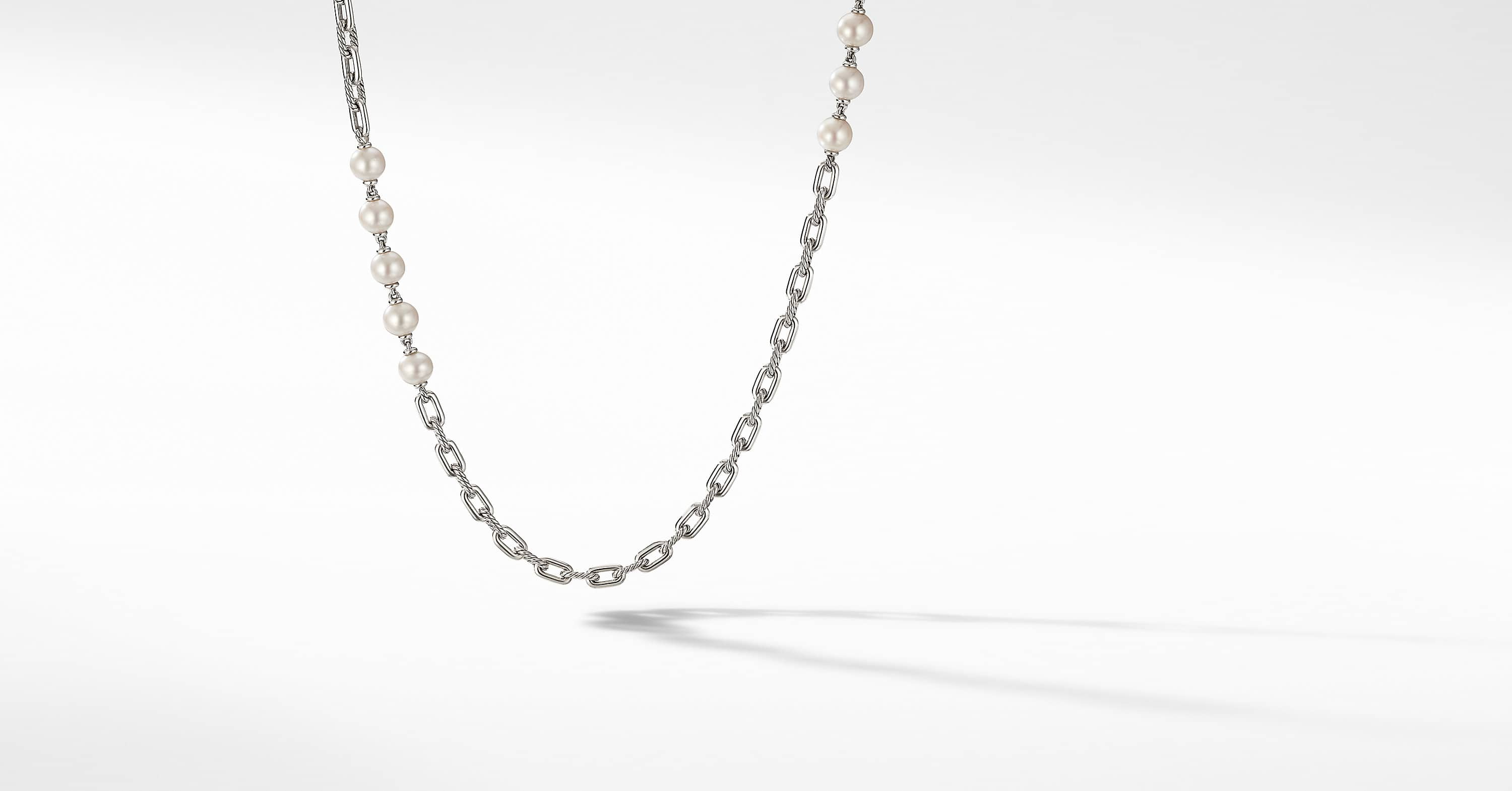 Collier chaîne DY Madison Pearl, 6,4mm