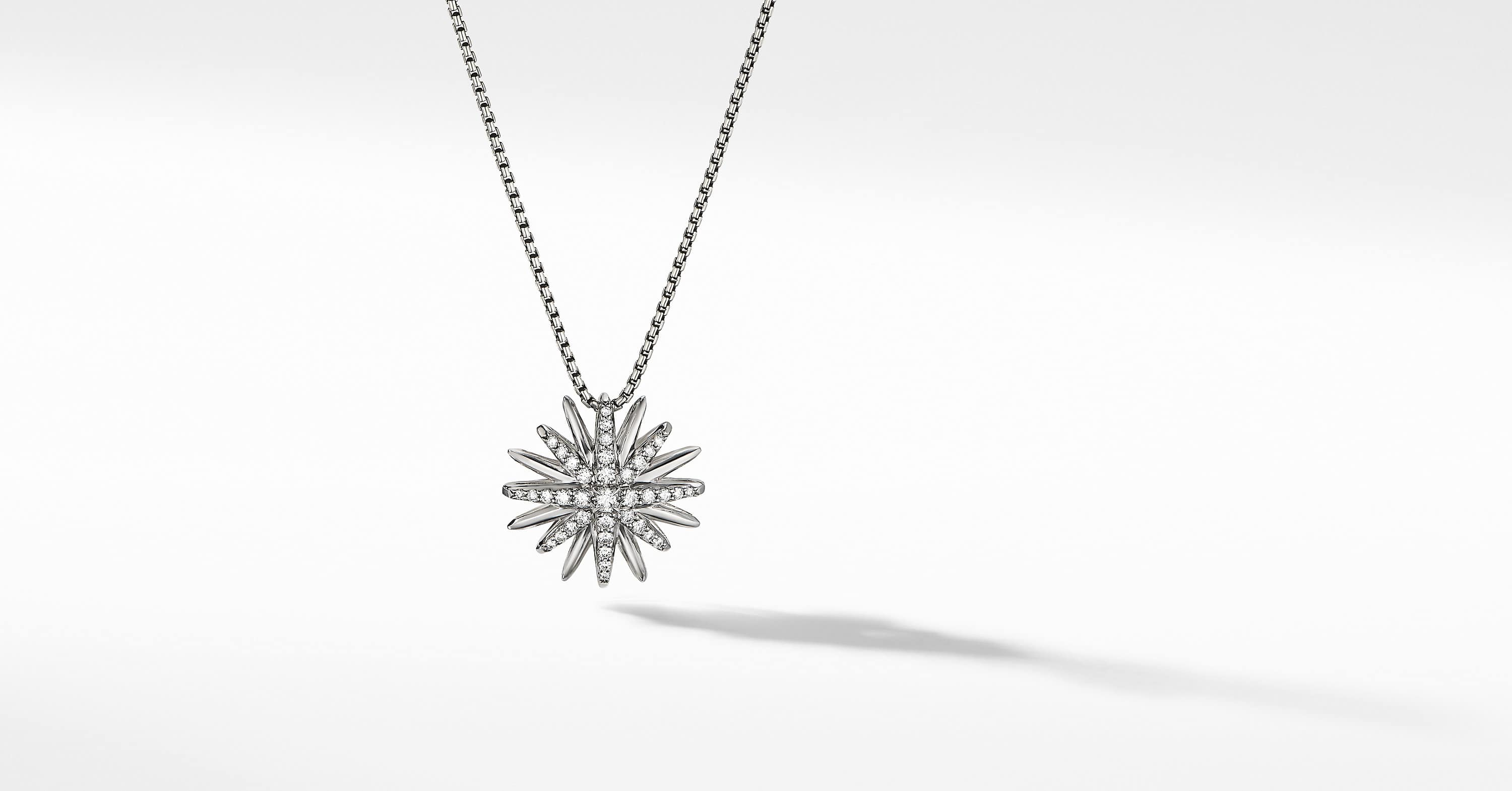 Starburst Pendant with Diamonds, 19mm