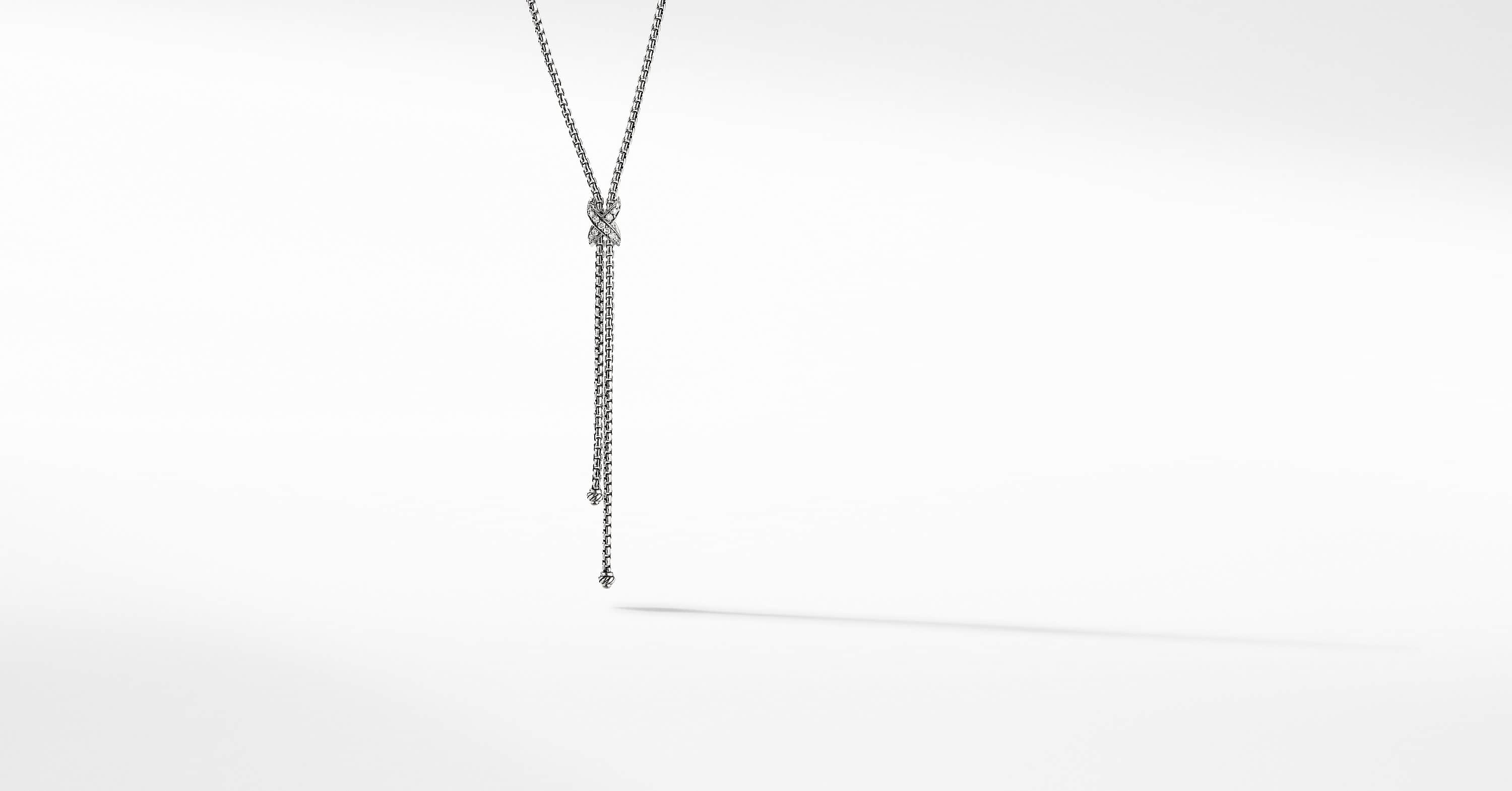 Petite X Lariat Y Necklace with Diamonds
