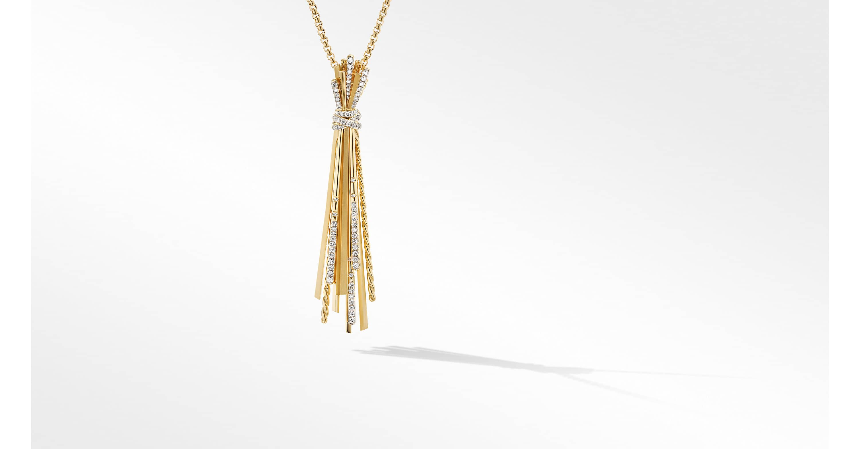 Angelika Y Slider Necklace in 18K Yellow Gold with Diamonds