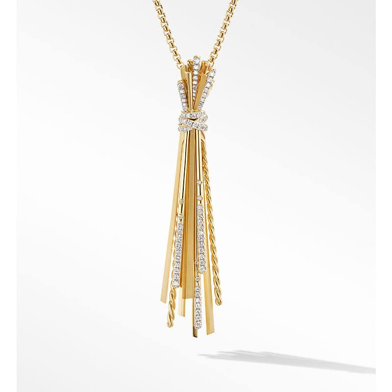 Angelika™ Y Slider Necklace in 18K Yellow Gold