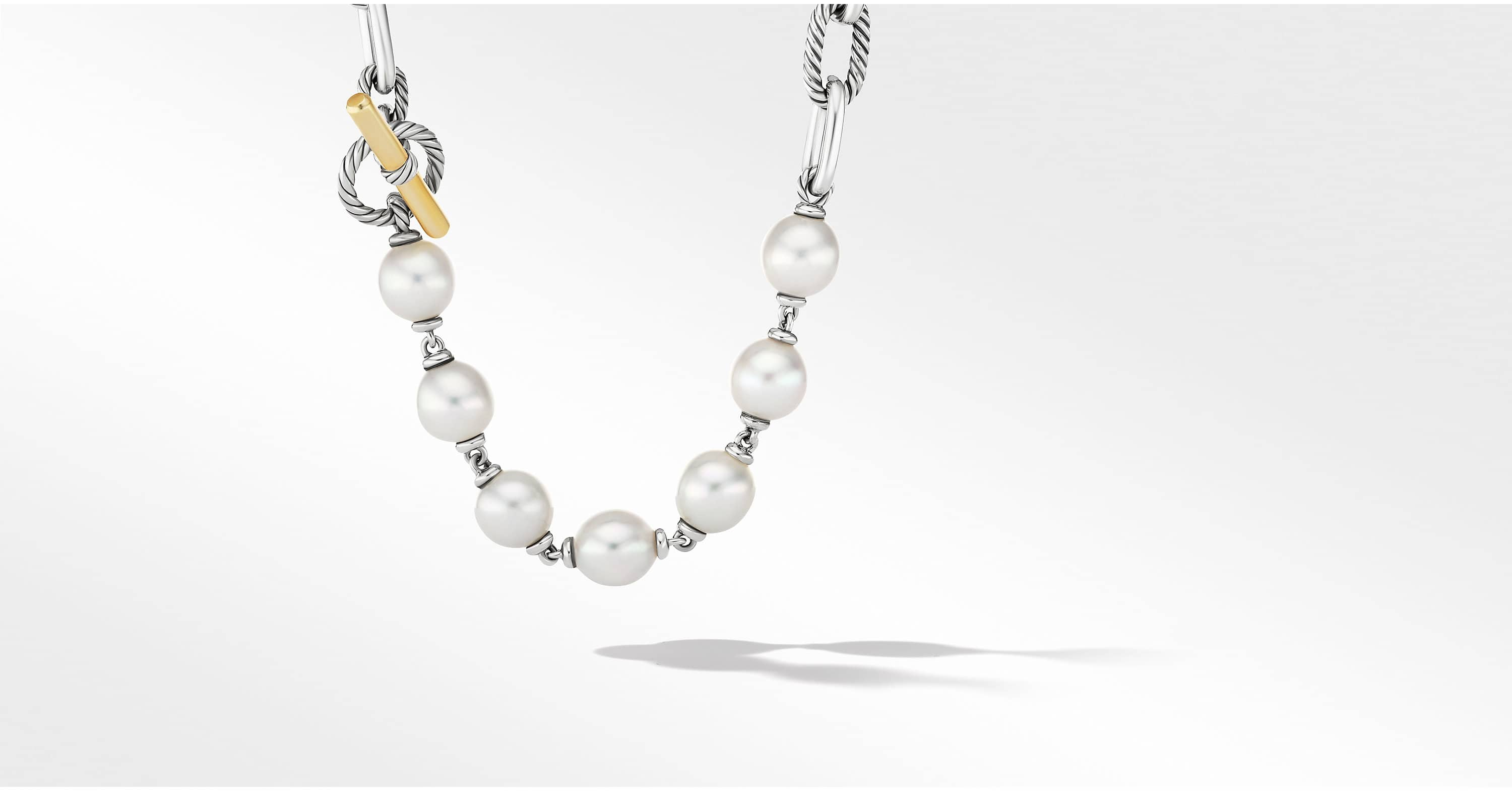 DY Madison Pearl Chain Necklace with 18K Yellow Gold, 11mm