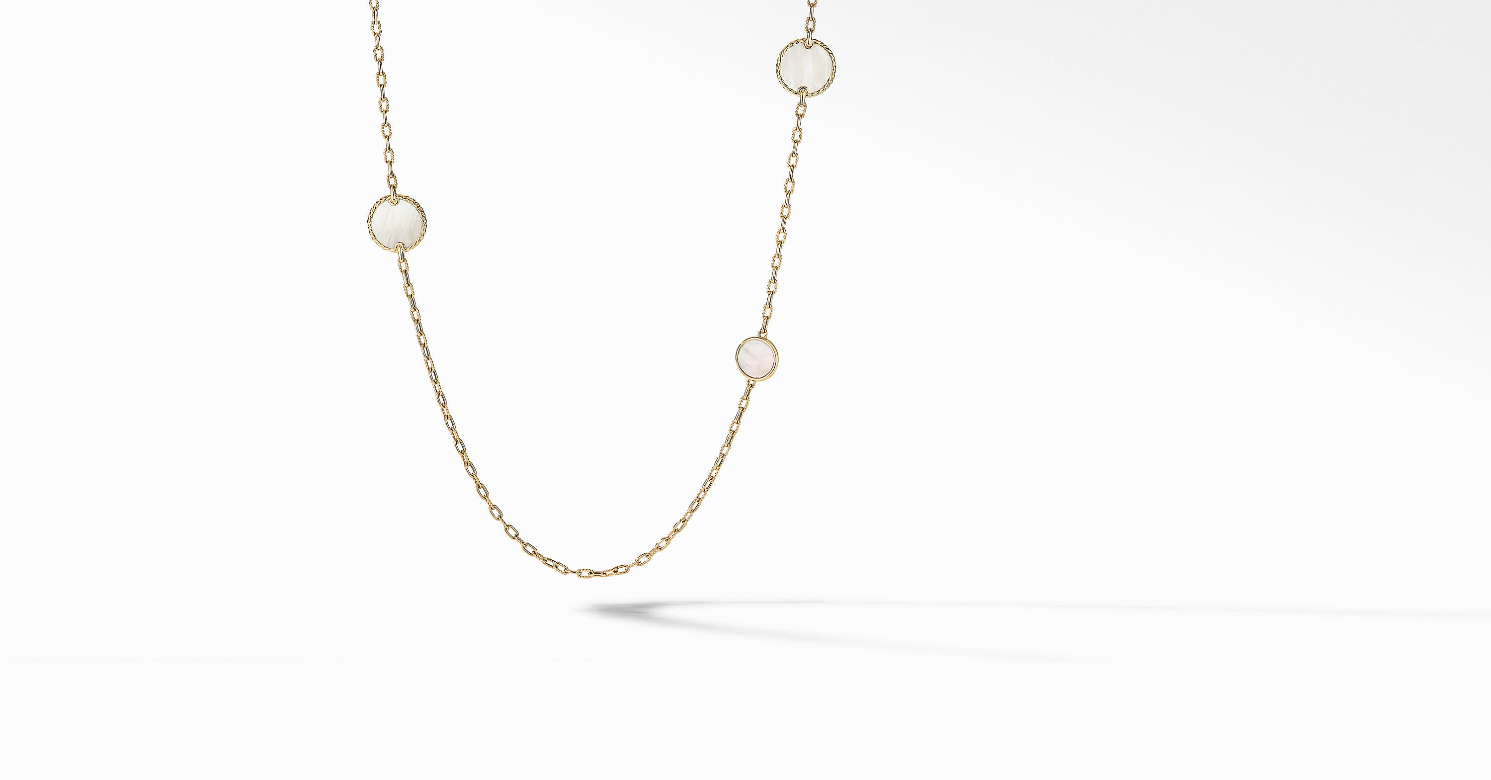 DY Elements Station Necklace in 18K Yellow Gold