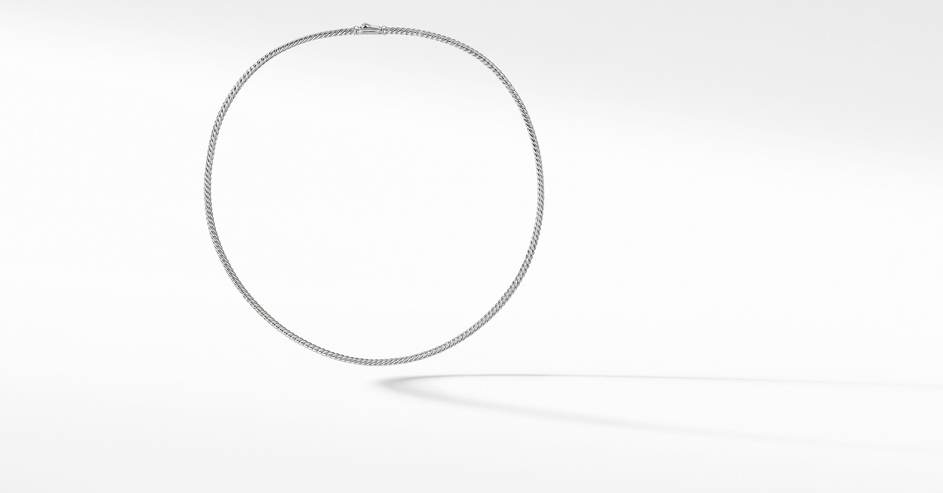 Sculpted Cable Necklace, 2.6mm