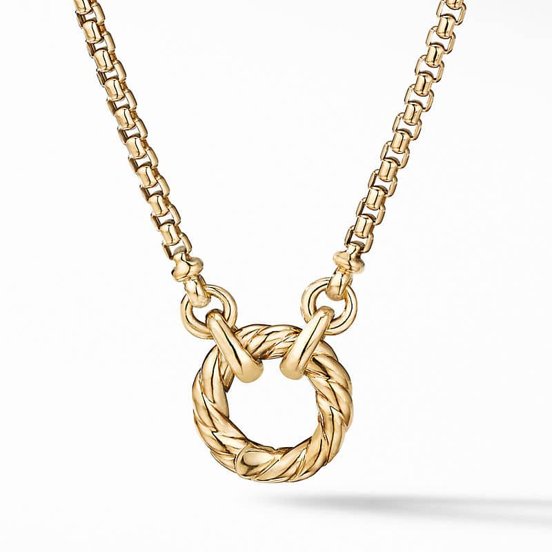 Cable Amulet Vehicle Box Chain Necklace in 18K Yellow Gold