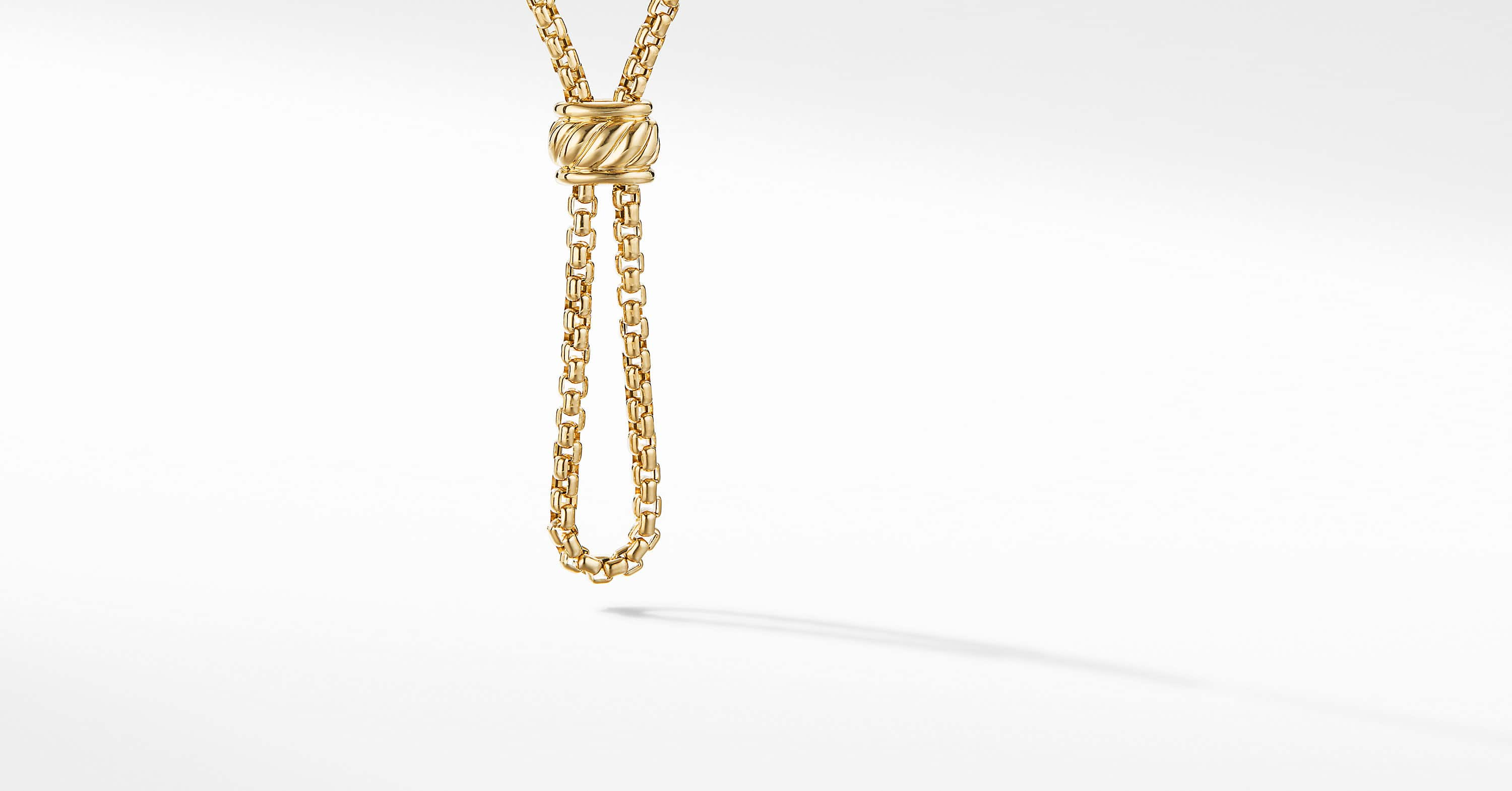 DY Elements Amulet Vehicle Box Chain Necklace in 18K Yellow Gold, 2.7mm