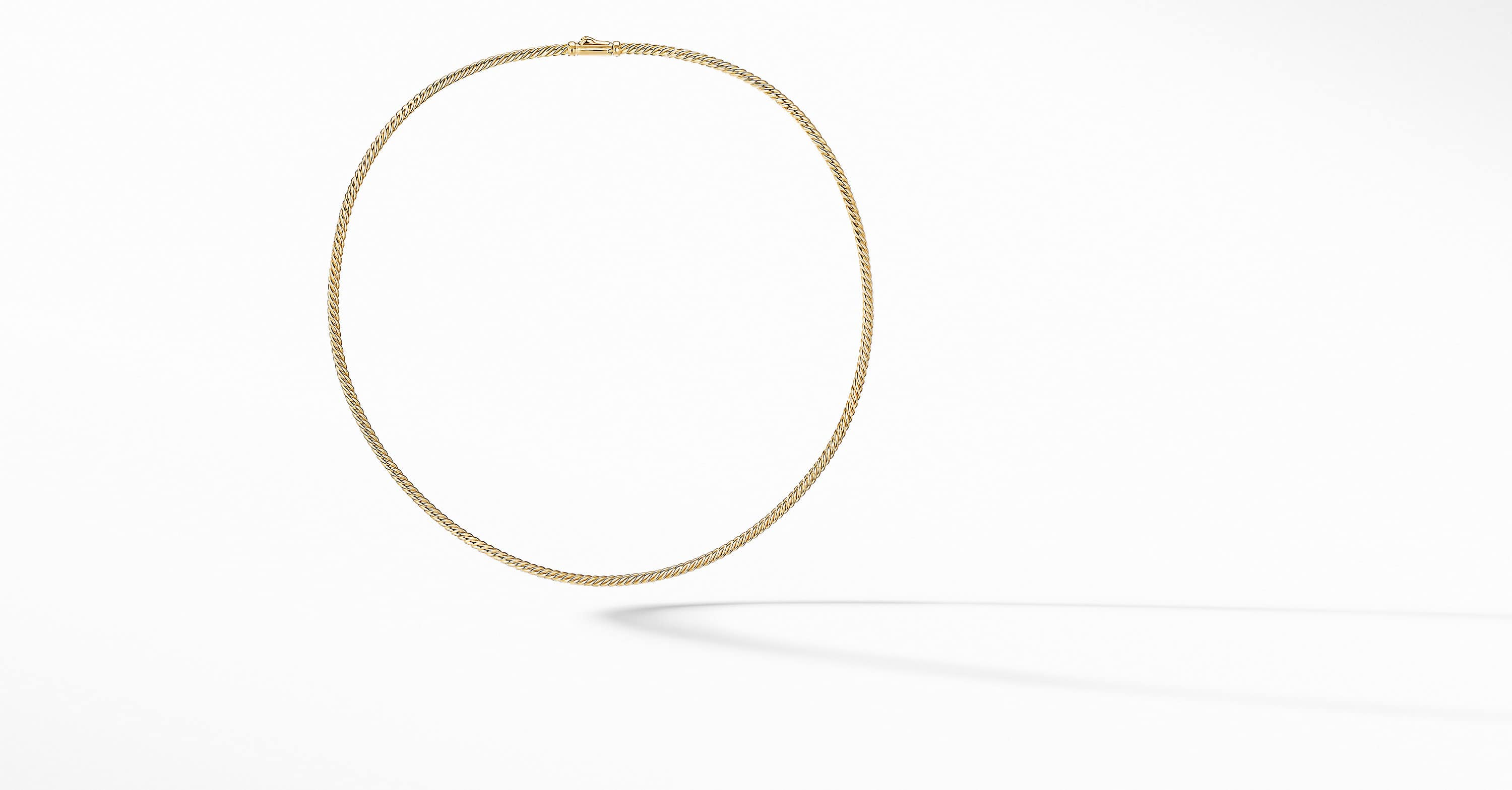 Sculpted Cable Necklace in 18K Yellow Gold, 2.6mm