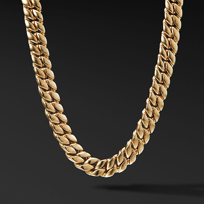 Curb Chain Necklace in 18K Yellow Gold, 11.5mm