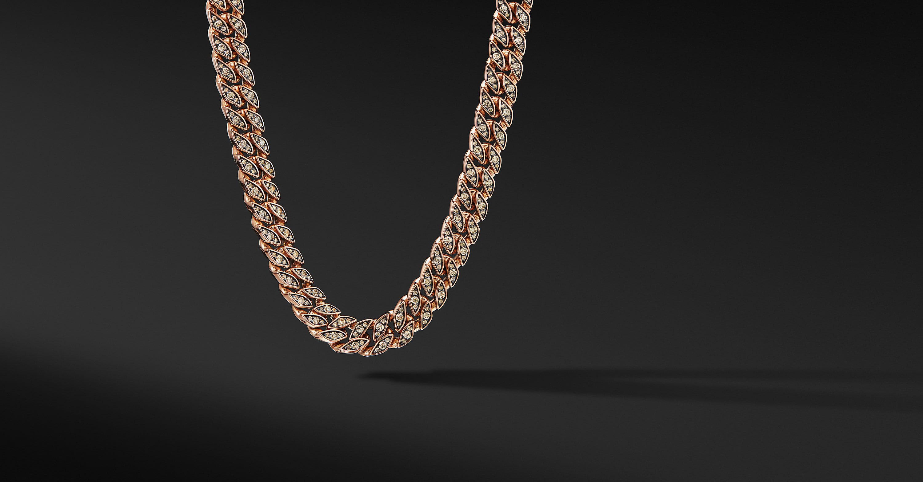 Curb Chain Necklace in 18K Rose Gold