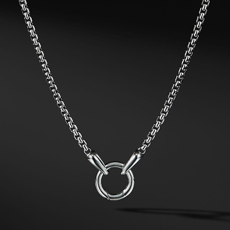 Smooth Amulet Box Chain Necklace