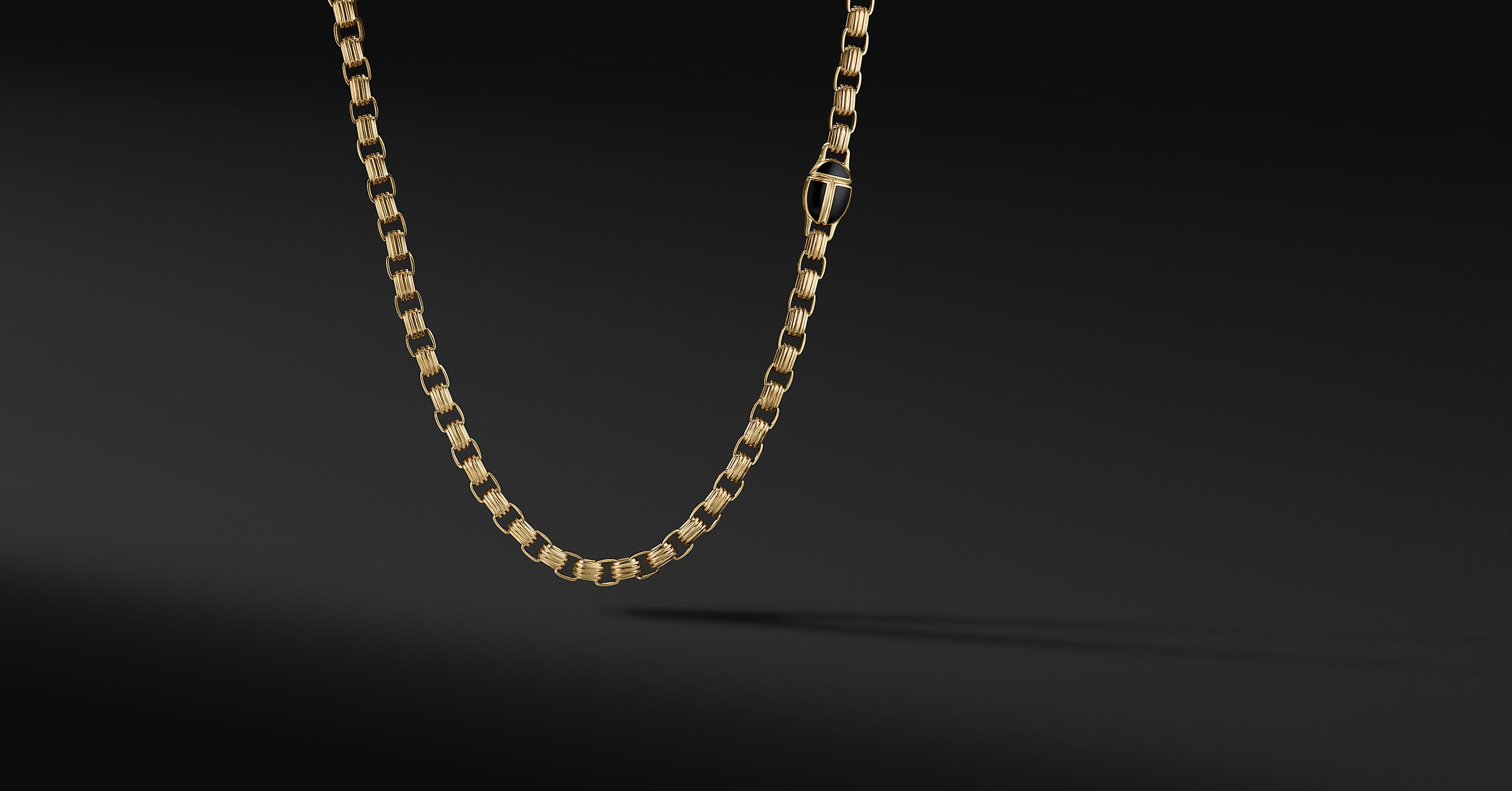Cairo Chain Link Necklace in 18K Yellow Gold,  7.4mm