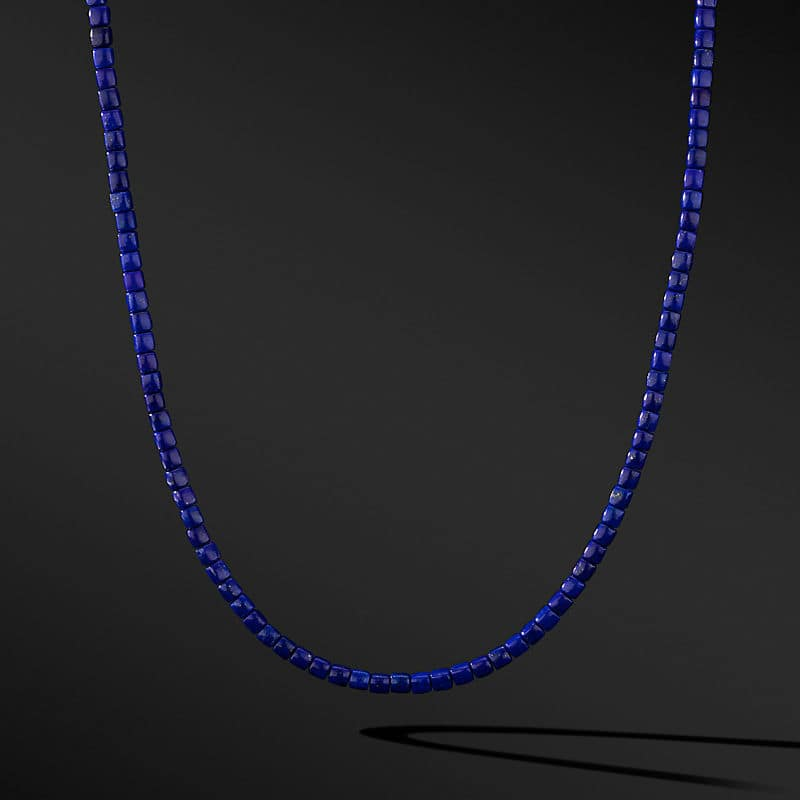 Spiritual Beads Cushion Necklace with 18K Yellow Gold, 4mm