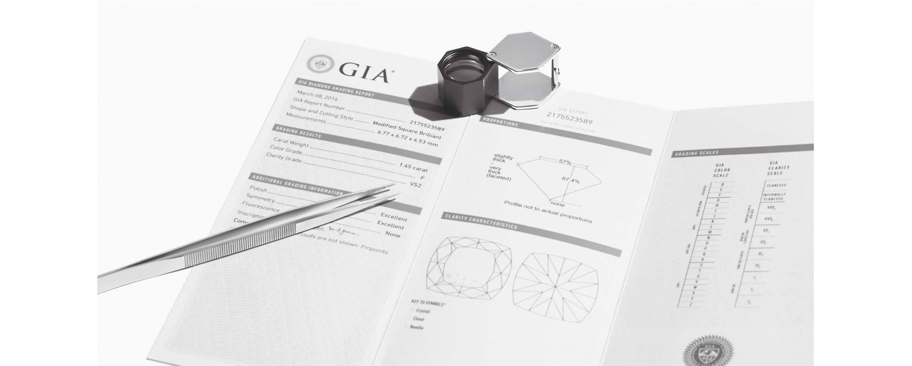 A GIA Diamond Report.