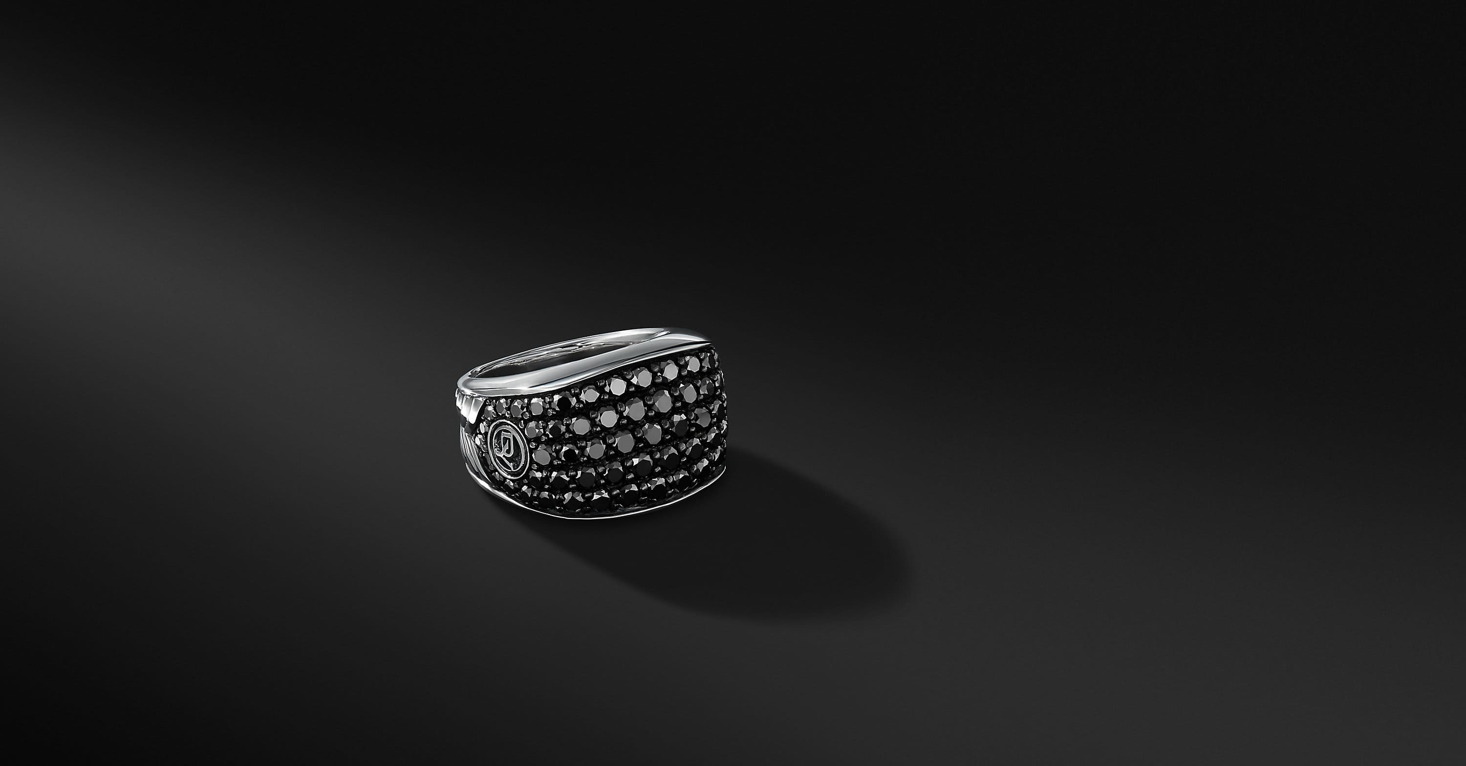 Pavé Three-Sided Ring