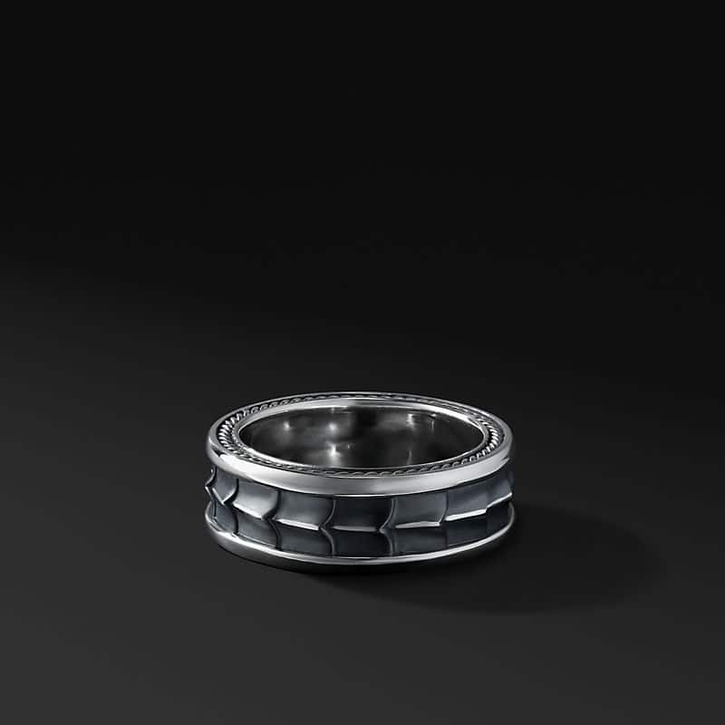 Armory Band in Sterling Silver