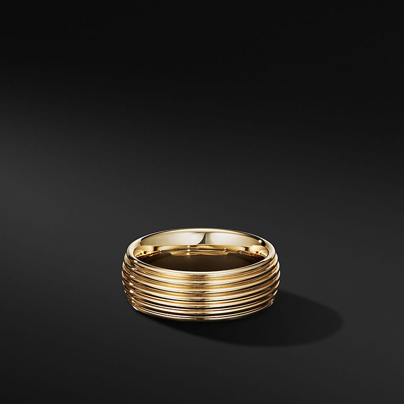 Royal Cord Band Ring in 18K Yellow Gold, 8mm