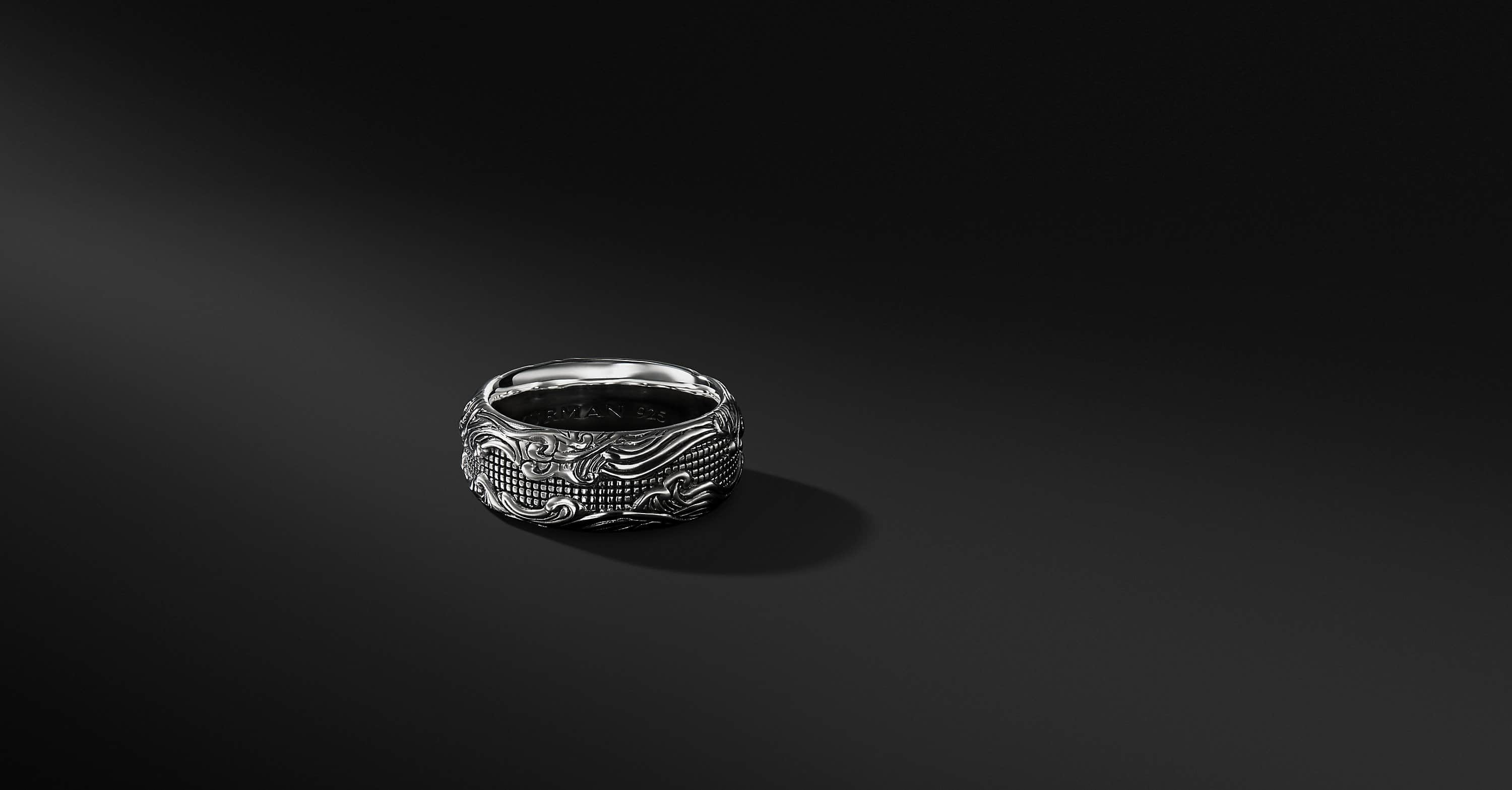 Waves Band in Sterling Silver, 10.5mm