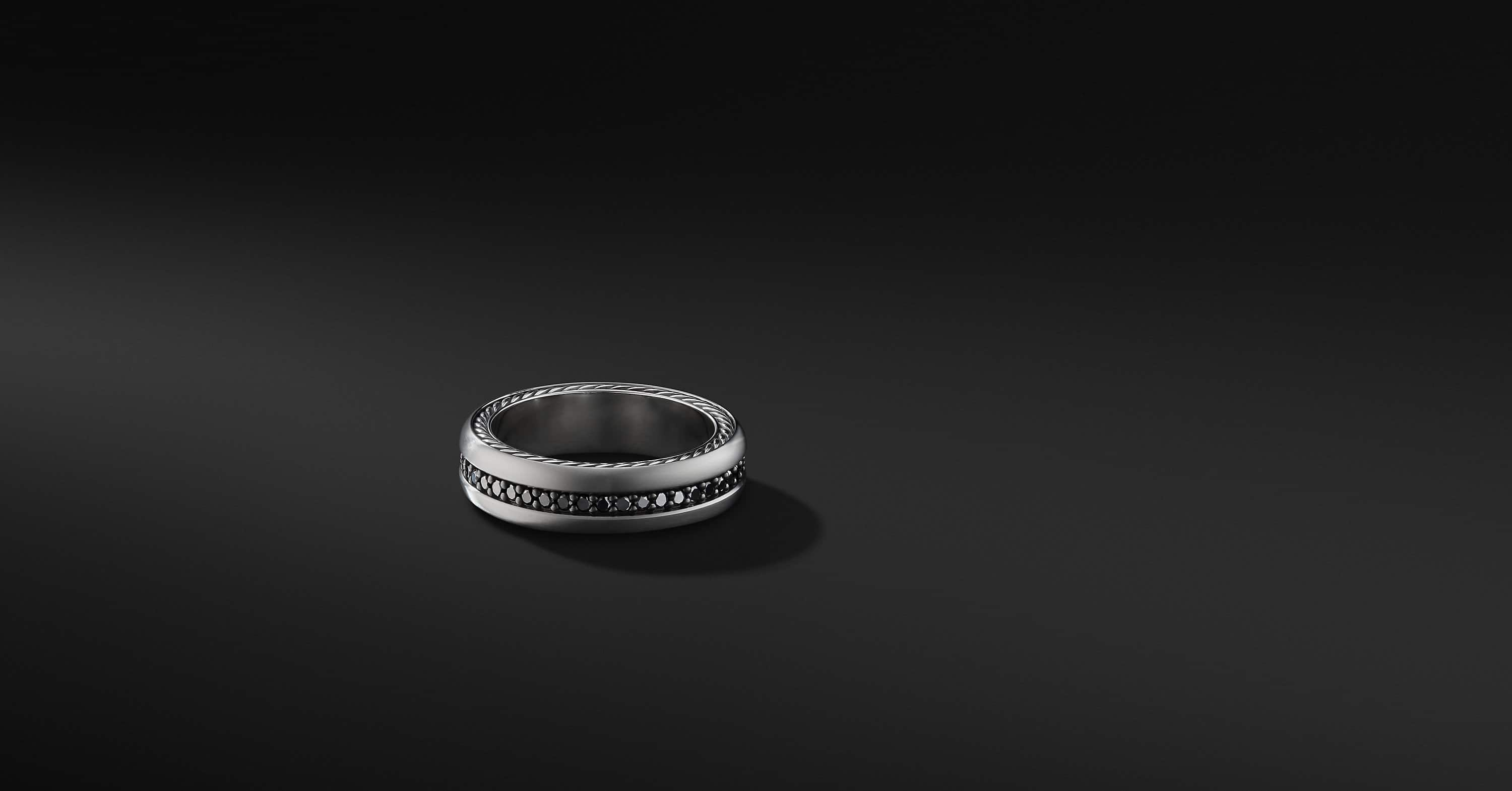 Streamline Pavé Band in Grey Titanium, 6mm