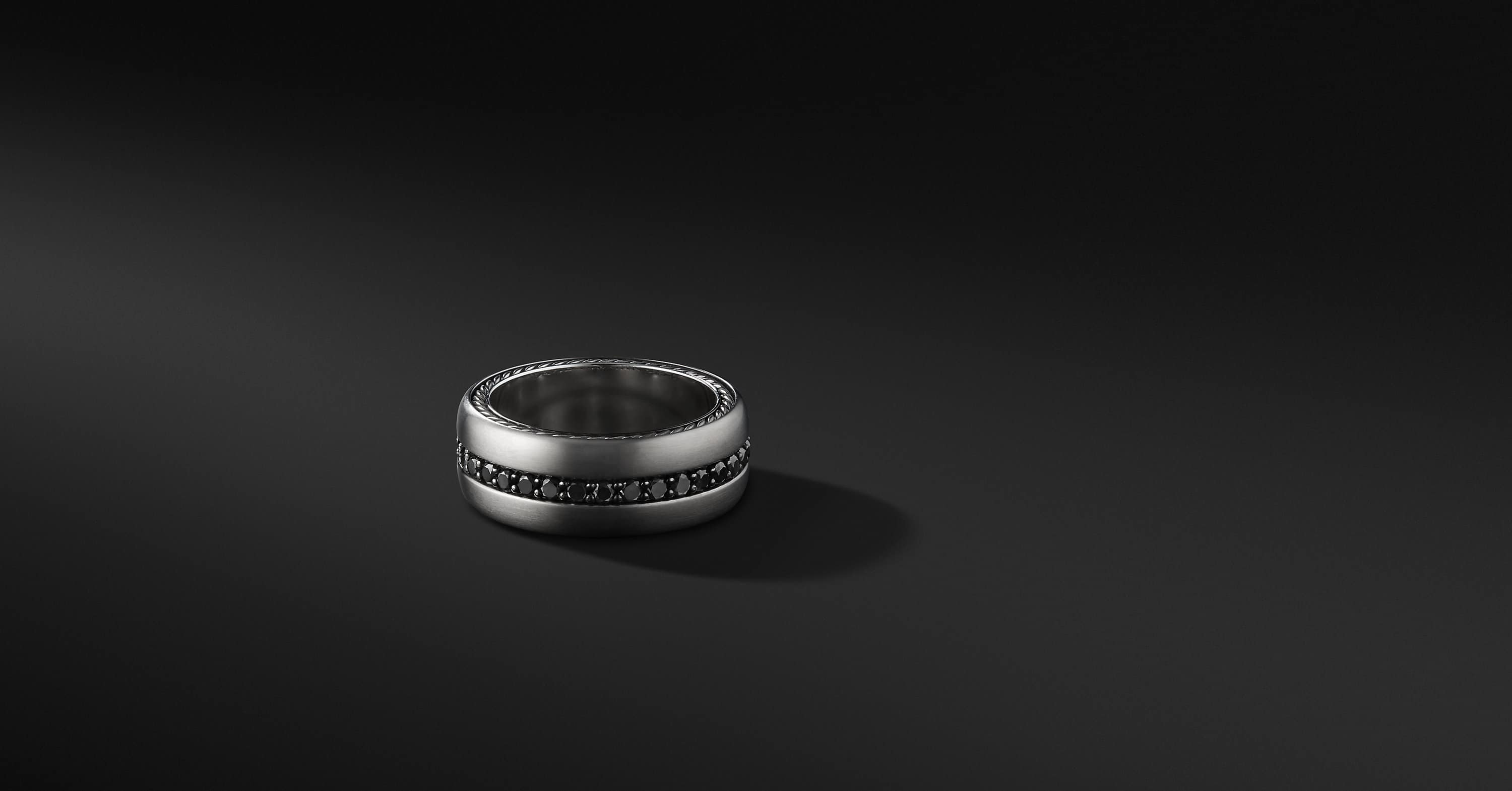Streamline Pavé Band in Grey Titanium, 9mm